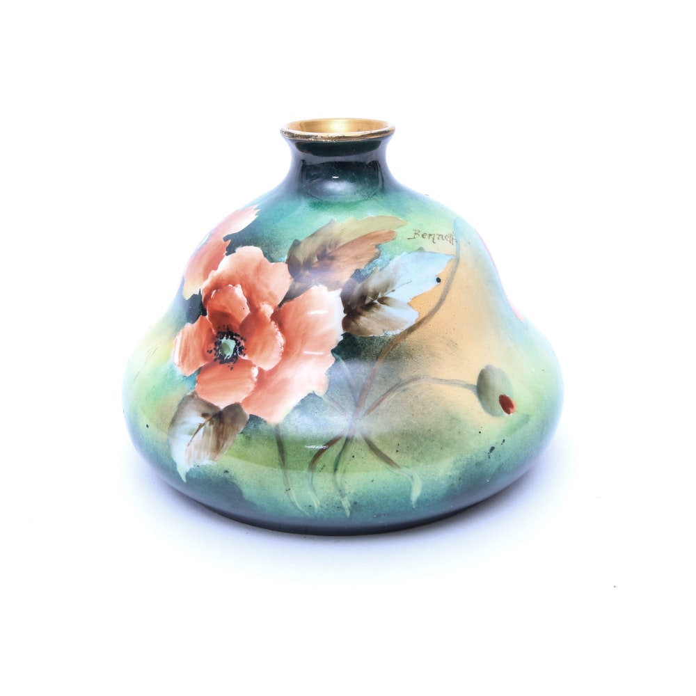 Vintage Habsburg Hand Painted Porcelain Vase