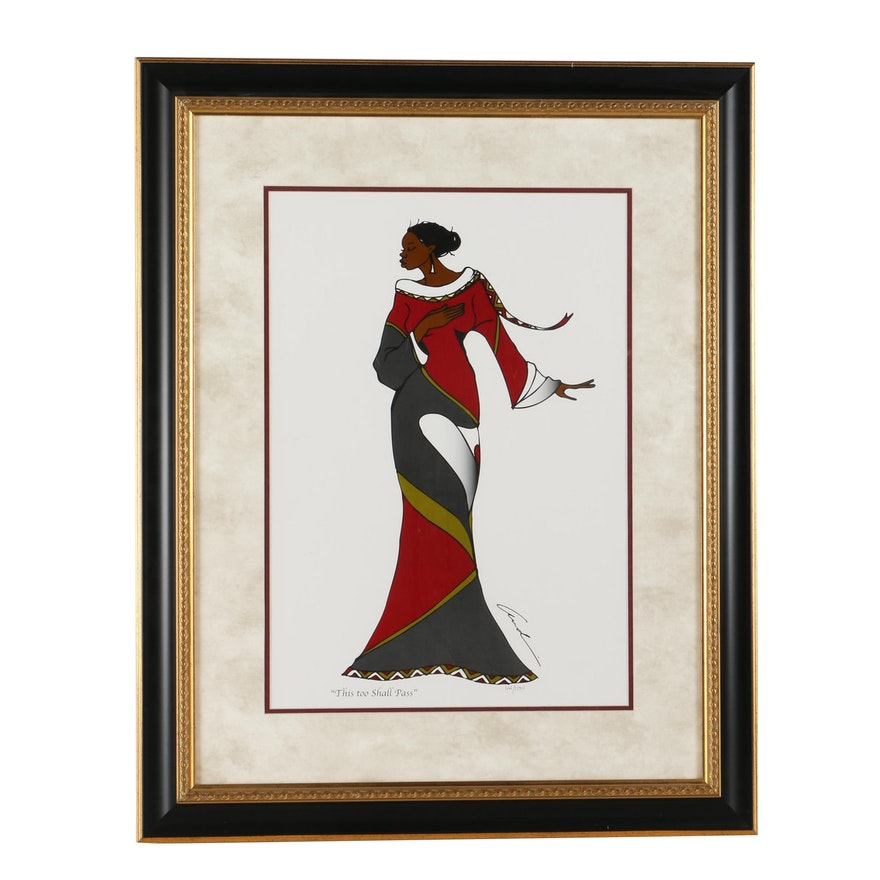 """Andre Thompson Limited Edition Offset Lithograph """"This Too Shall Pass"""""""