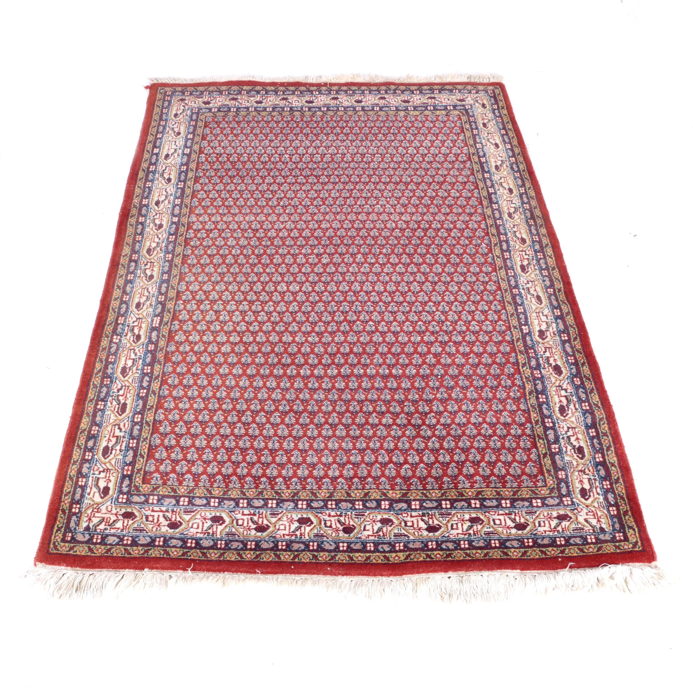 Hand-Knotted Persian Serabend Mir-A-Boteh Area Rug