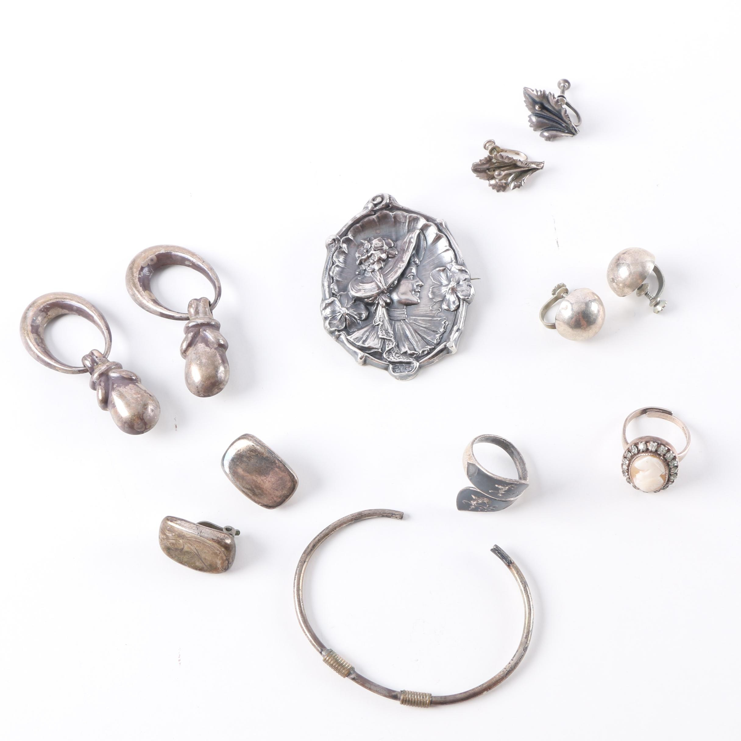 Sterling Silver Jewelry Including Martelli