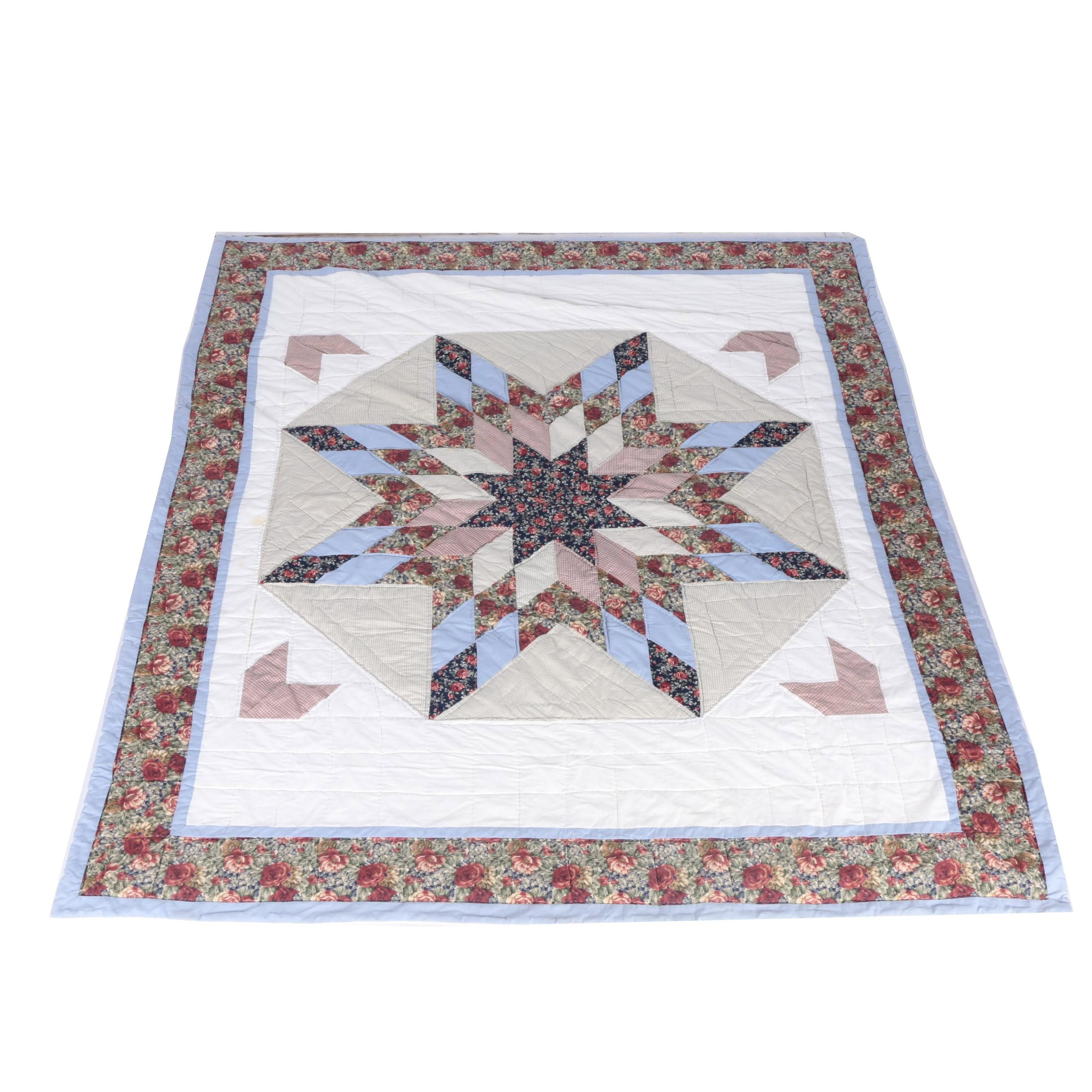 """Hand Picked """"Eight Pointed Star"""" Quilt"""