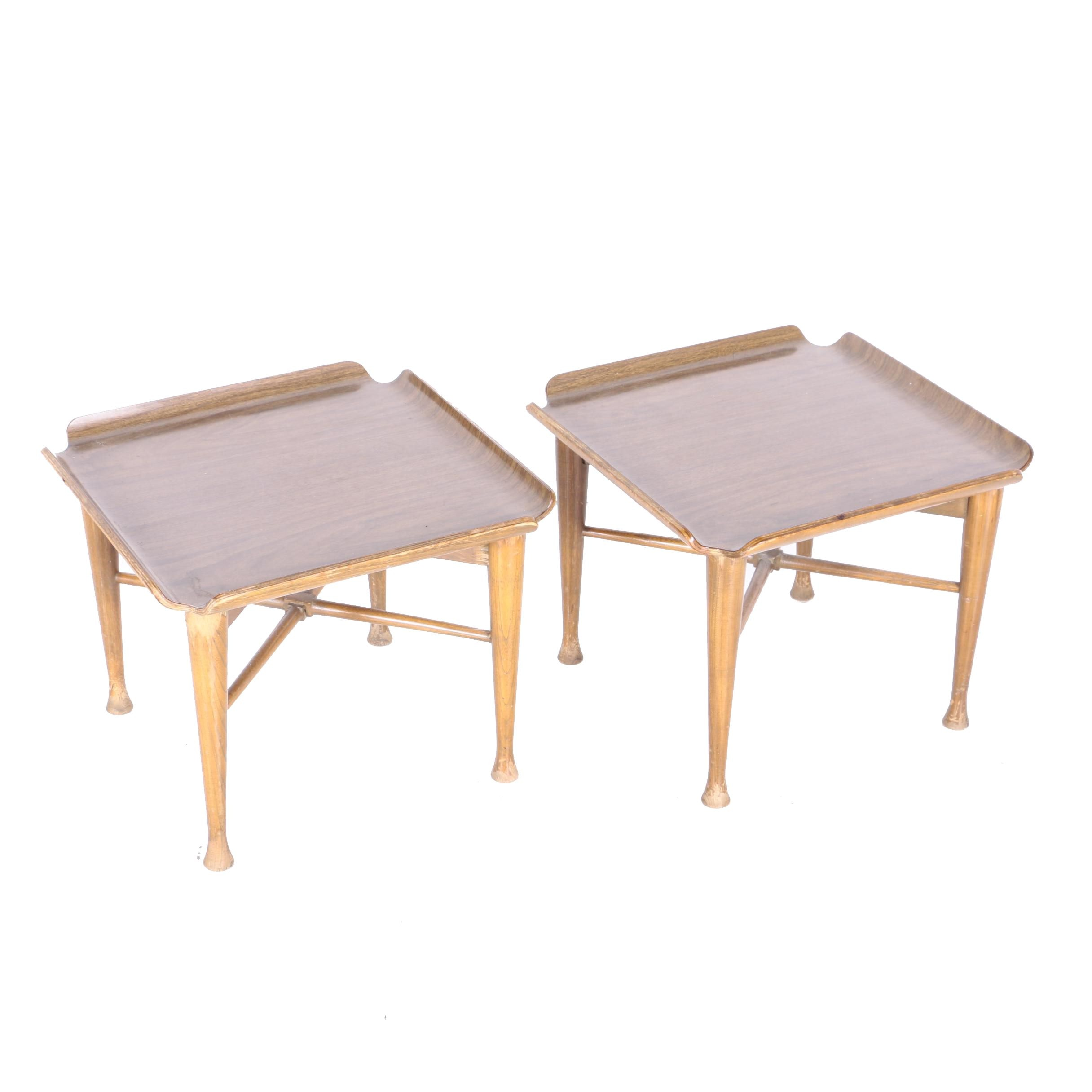 Pair of Vintage Modern Style Side Tables
