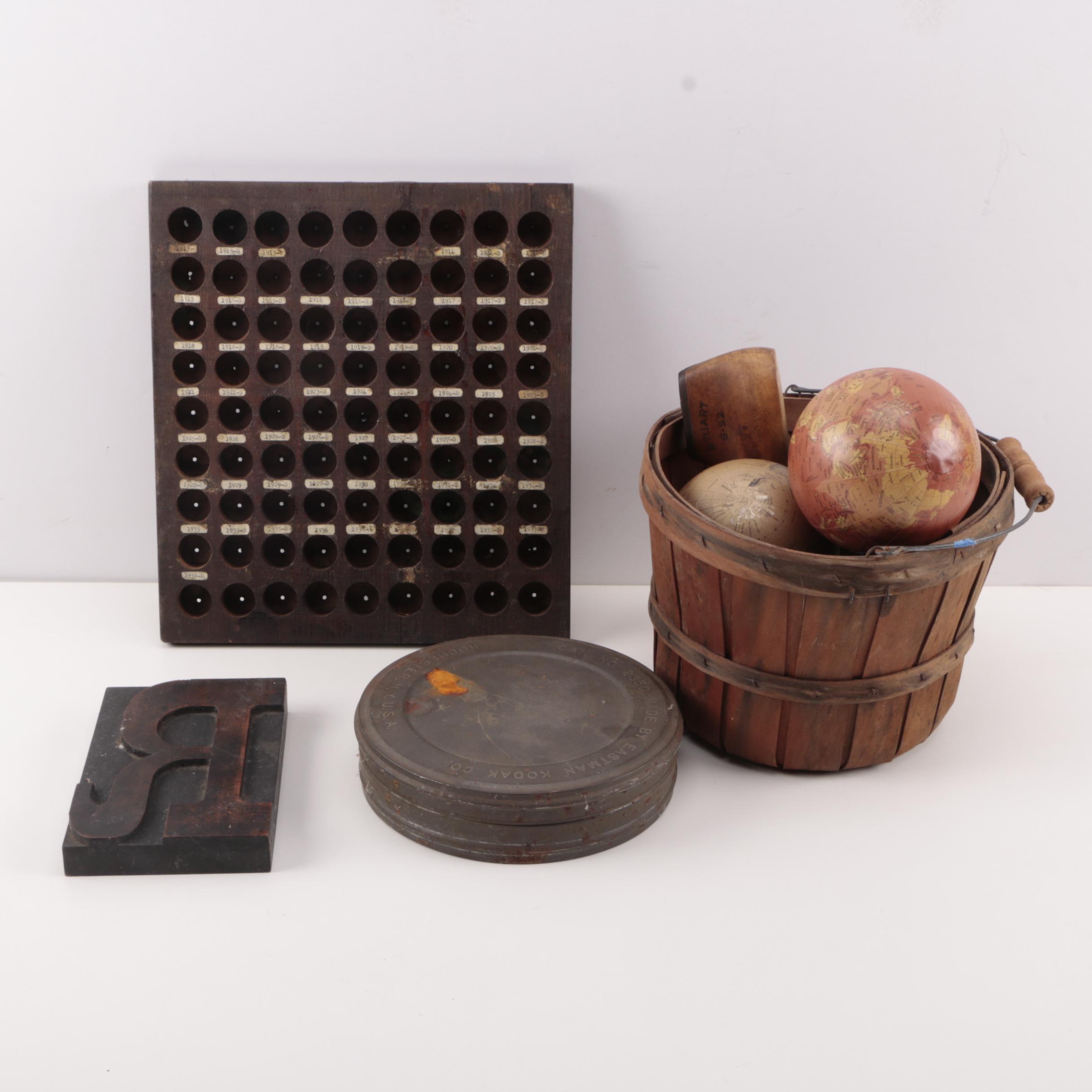 Coin Storage, Kodak Film Tin, and Other Decor