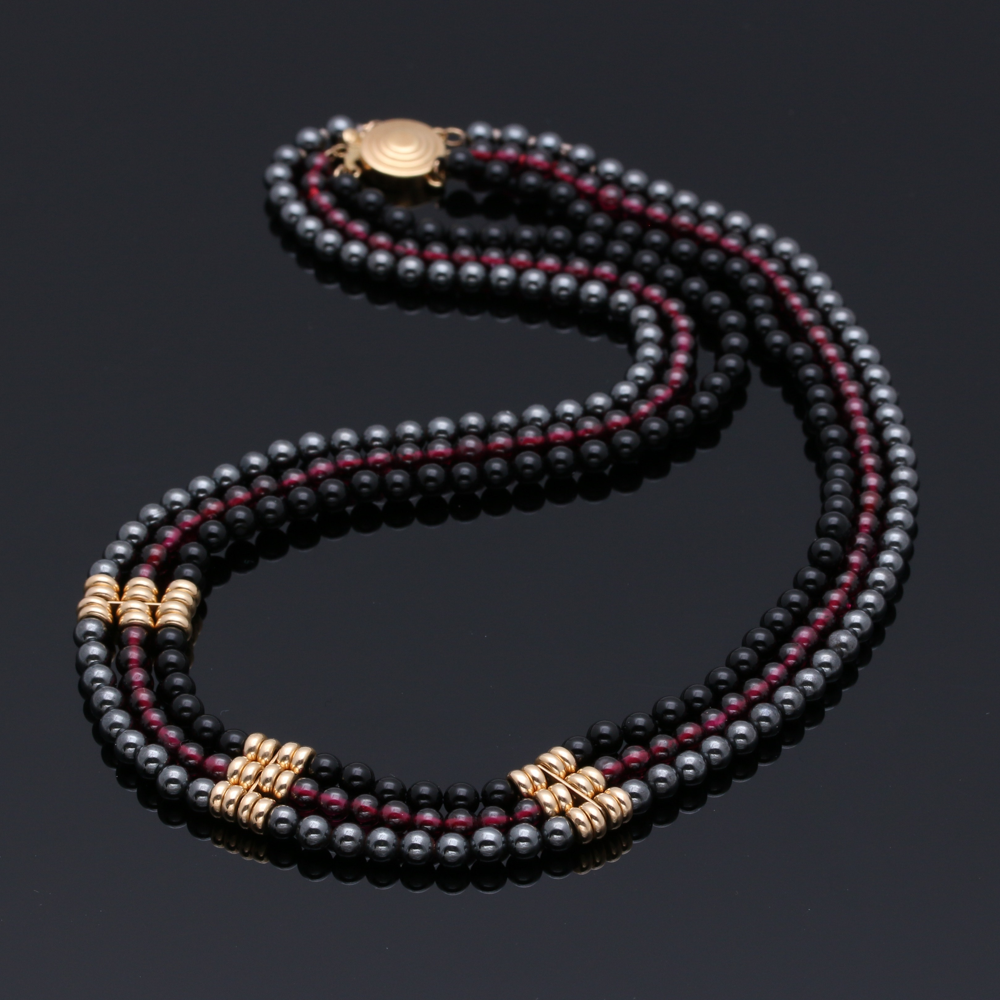 Gemstone Beaded Necklace with 14K Gold Findings