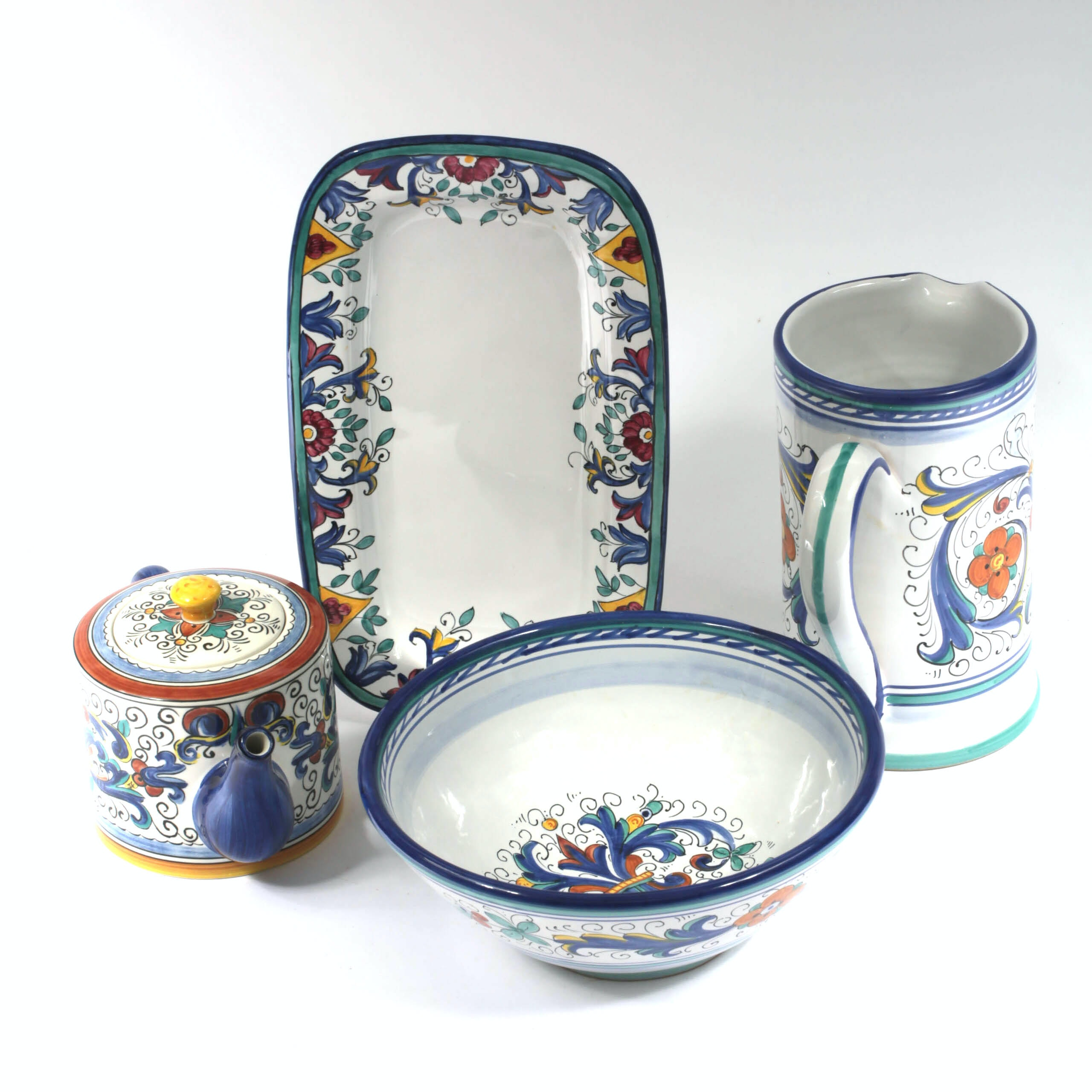 Hand-Painted Italian and Portuguese Tableware Including Deruta ...  sc 1 st  EBTH.com & Hand-Painted Italian and Portuguese Tableware Including Deruta : EBTH