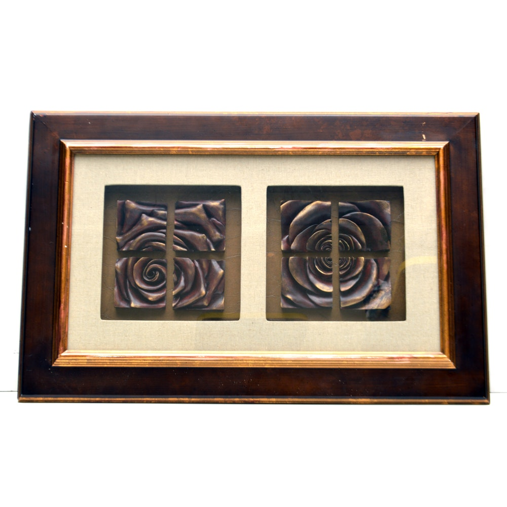 Framed Sculptures of Roses