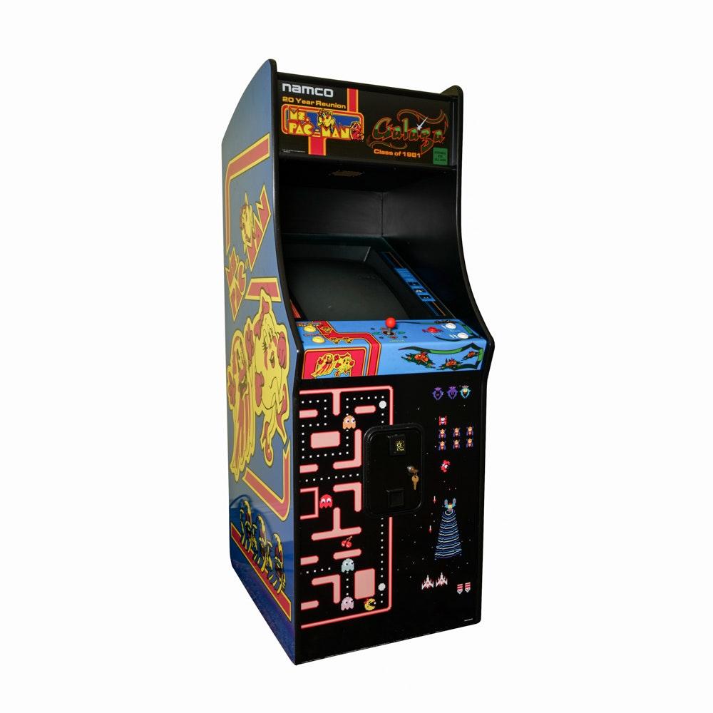 Namco Ms. Pac Man and Galaga Upright Arcade Game