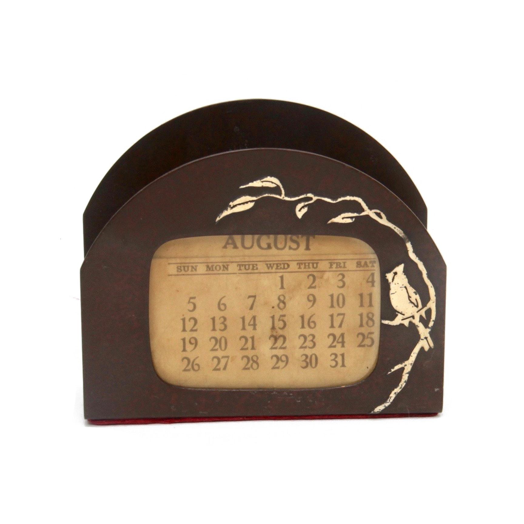 Heintz Sterling on Bronze Perpetual Calendar