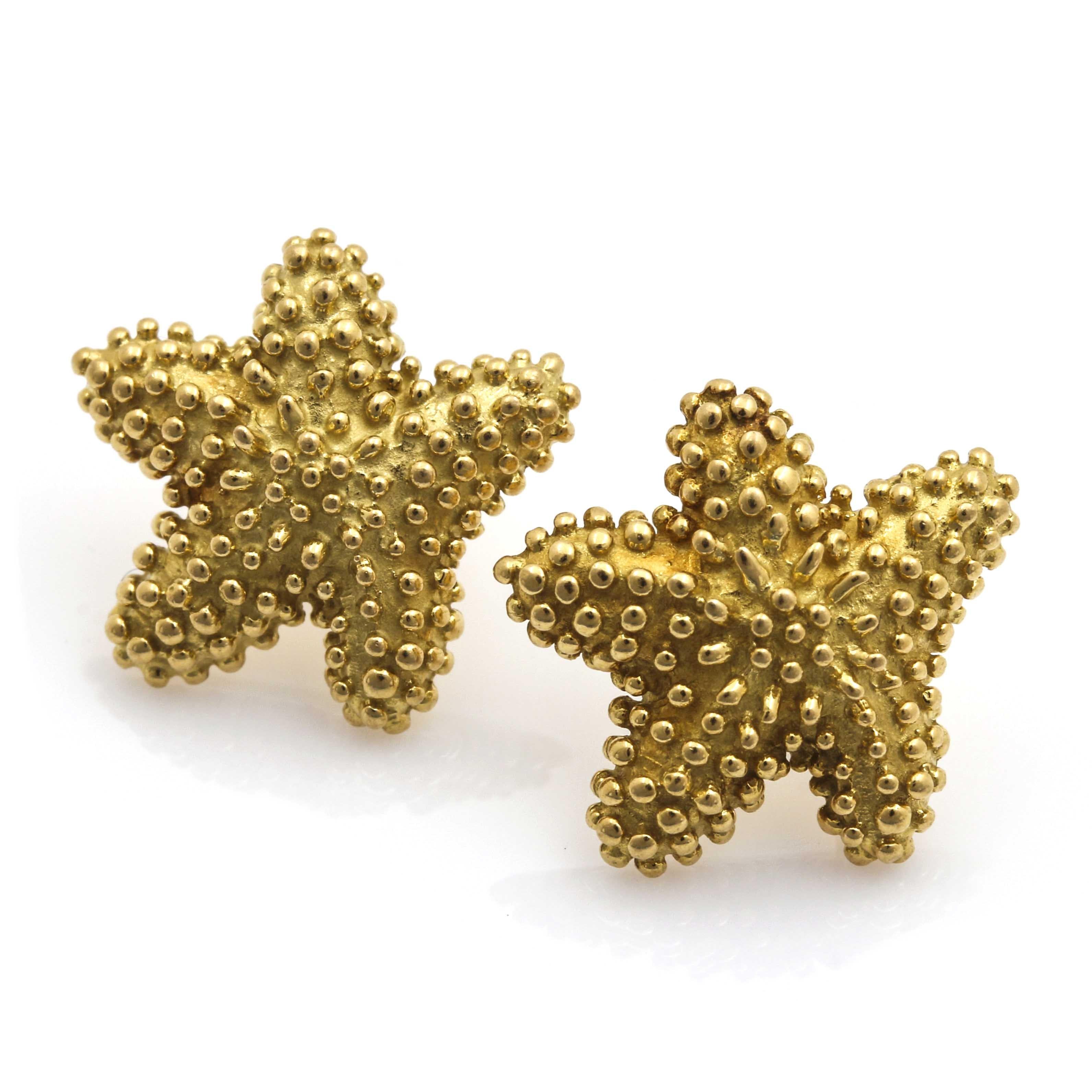 Tiffany & Co. 18K Yellow Gold Starfish Stud Earrings