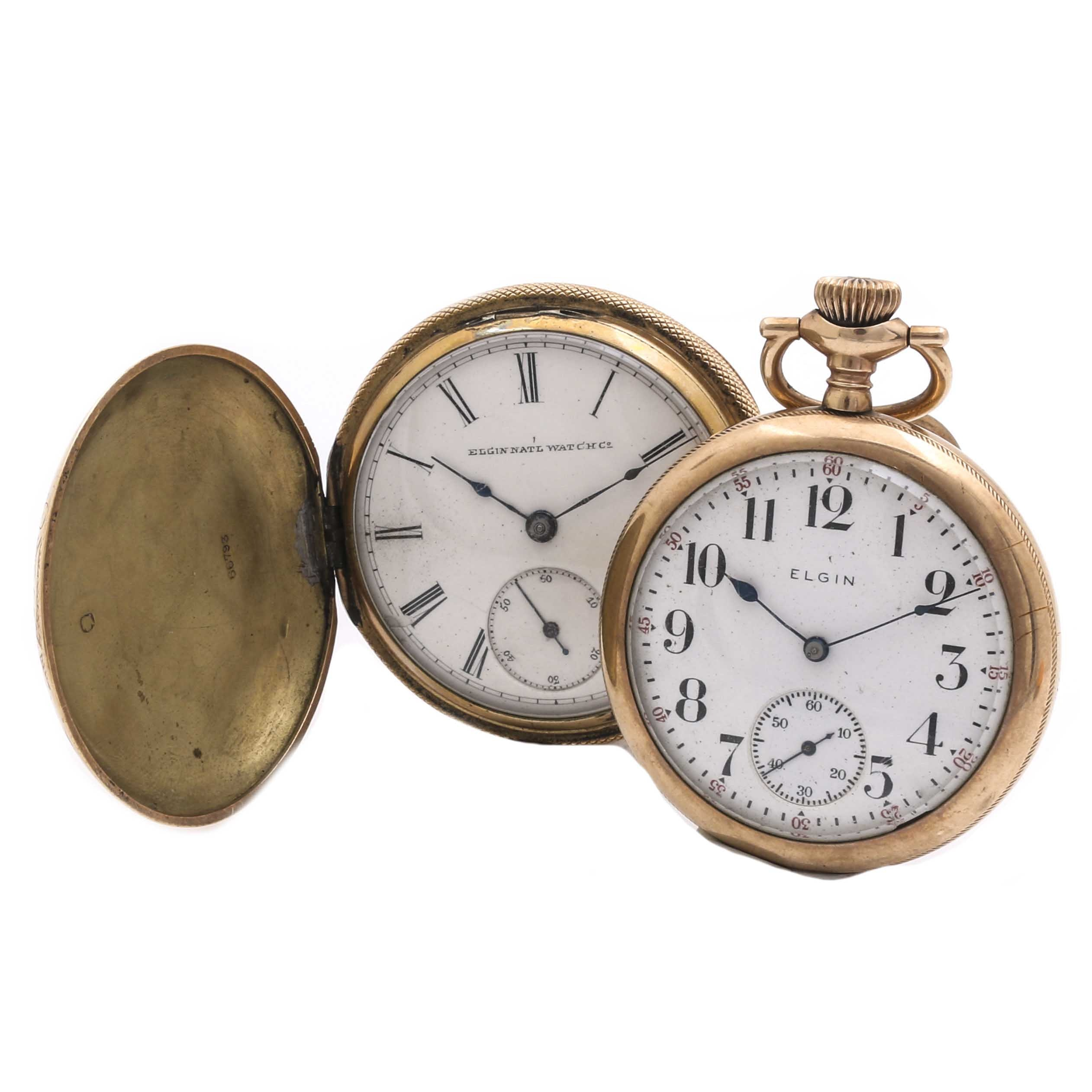 Elgin Yellow Gold Filled Pocket Watches