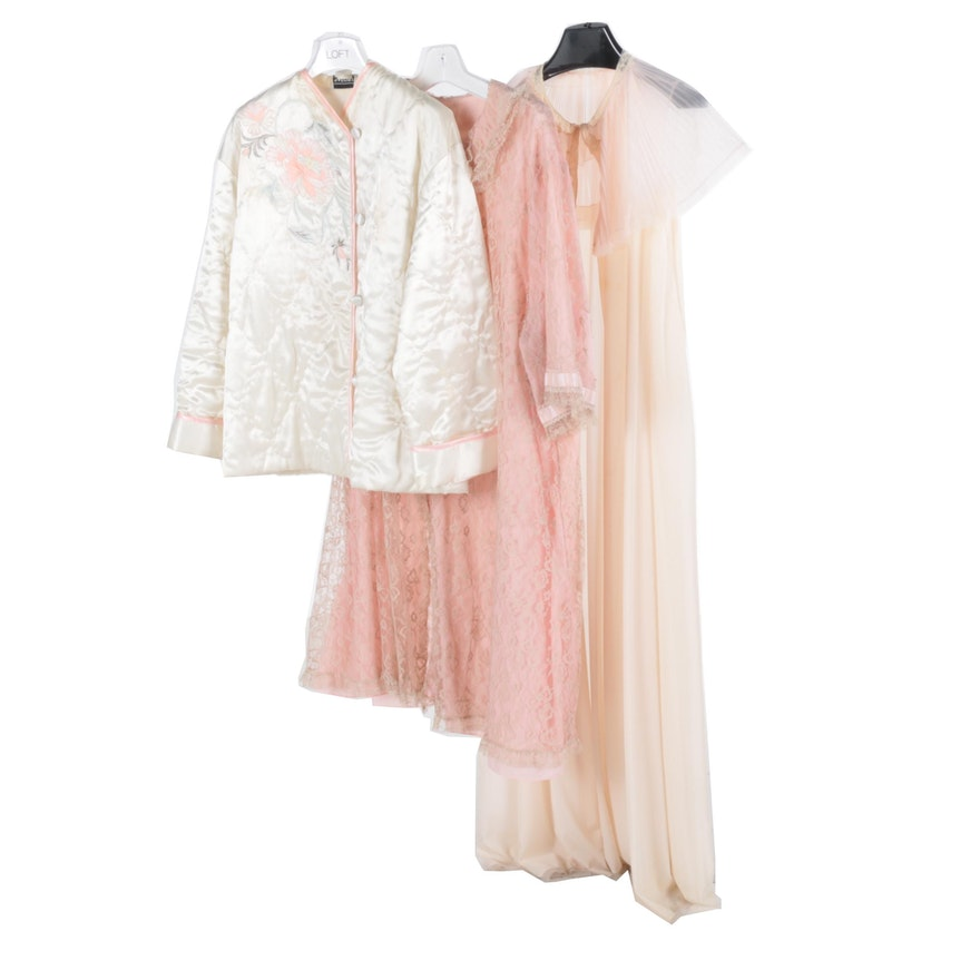 4d44077142 Vintage Bed Jacket and Robes   EBTH