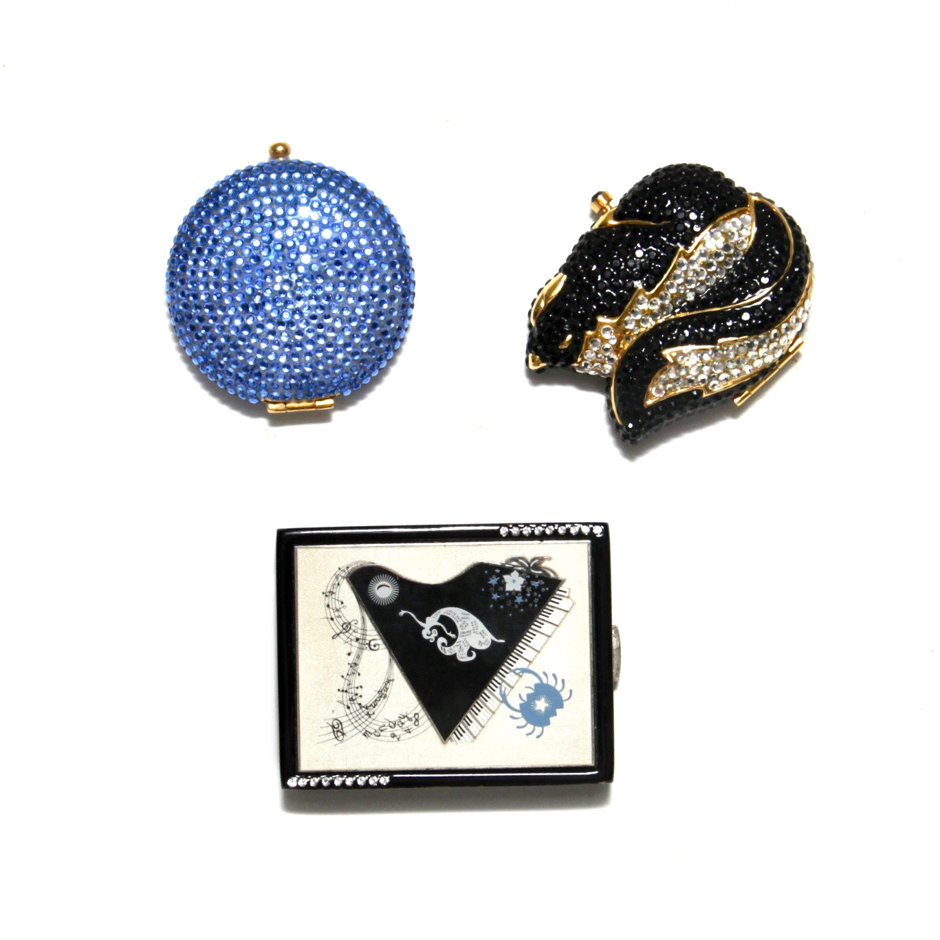 A Selection of Estee' Lauder Compacts to Include Erte' Astrological Sign Cancer