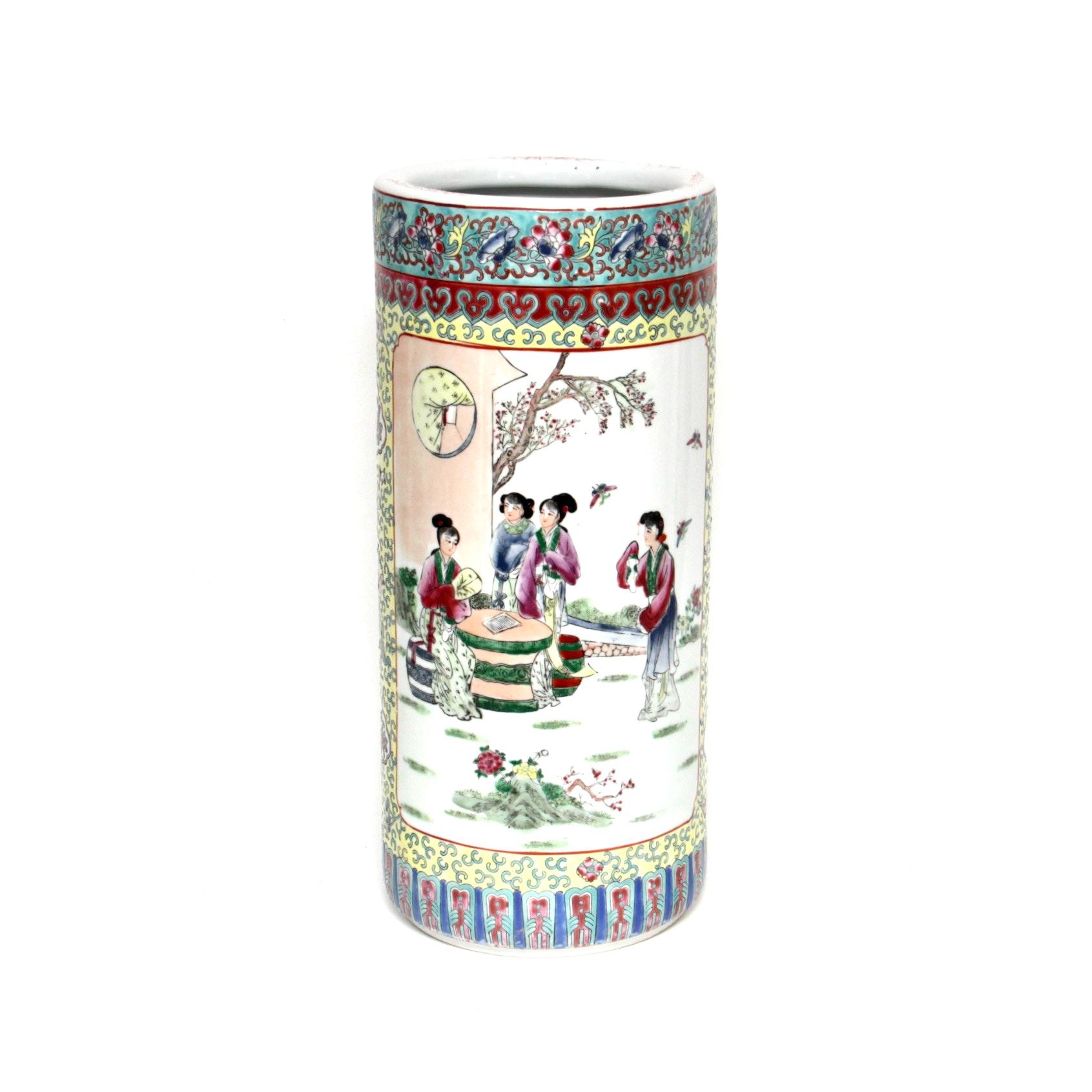 Chinese Ceramic Umbrella Stand