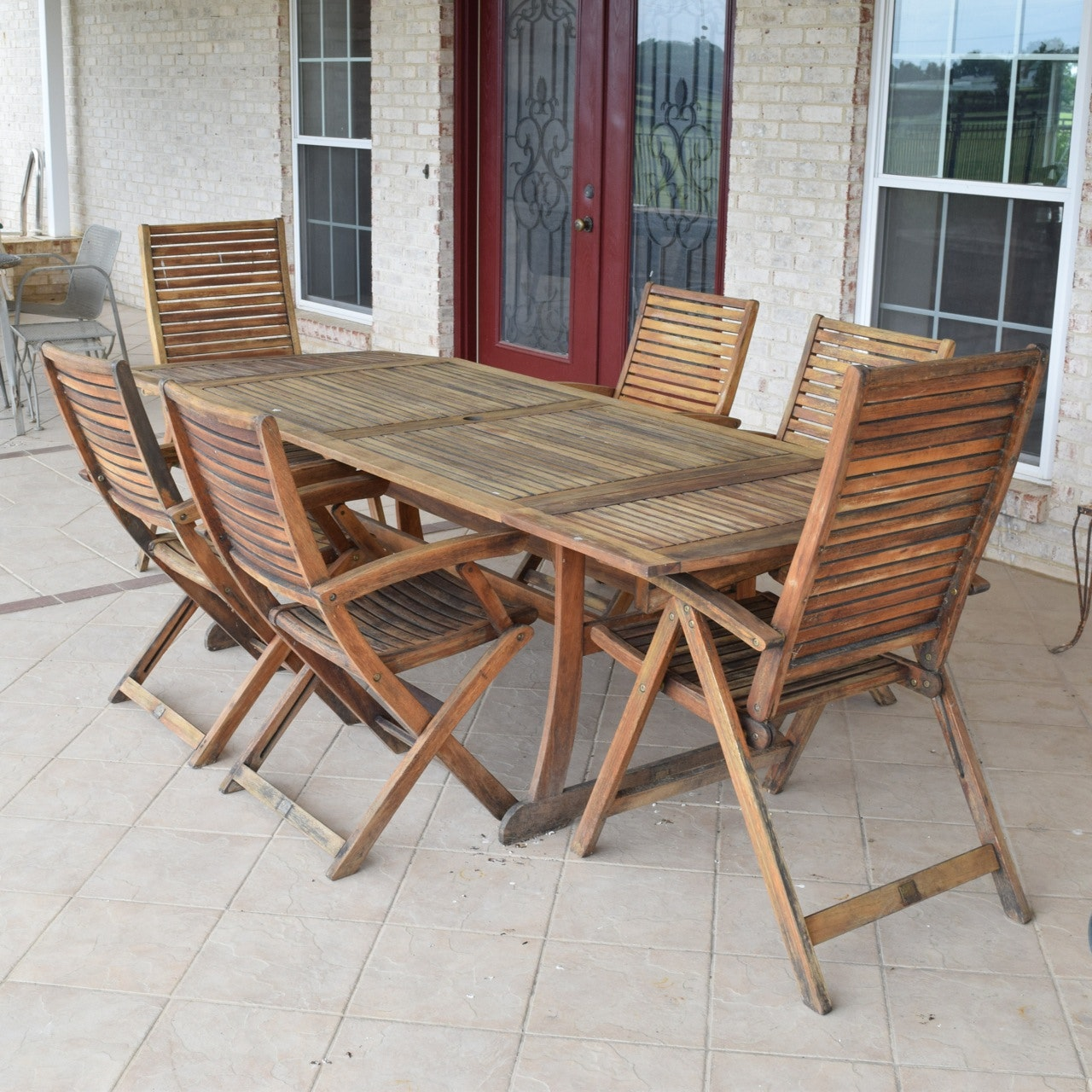 Teak Patio Dining Set By Jutlandia ...