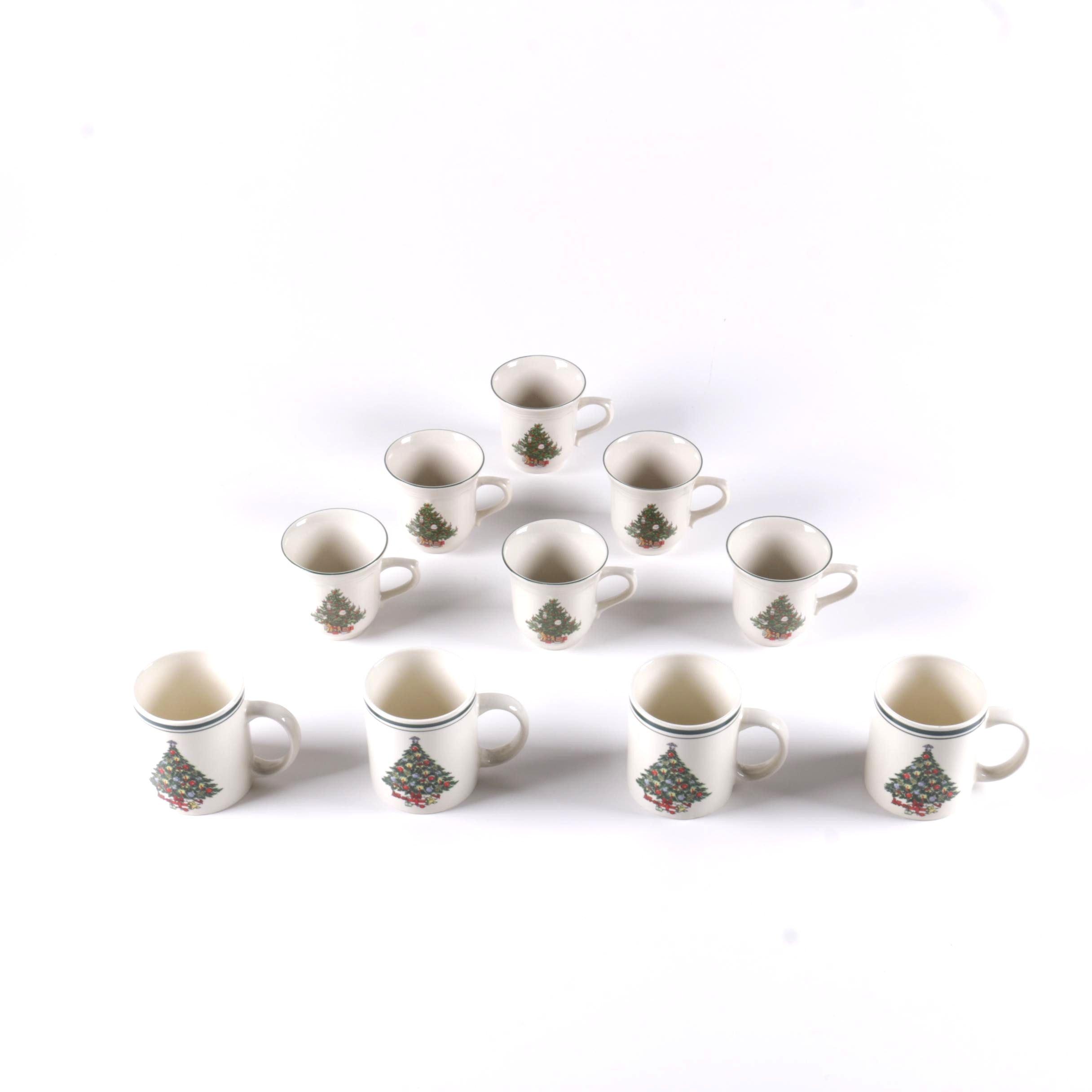 Assortment of Christmas Mugs