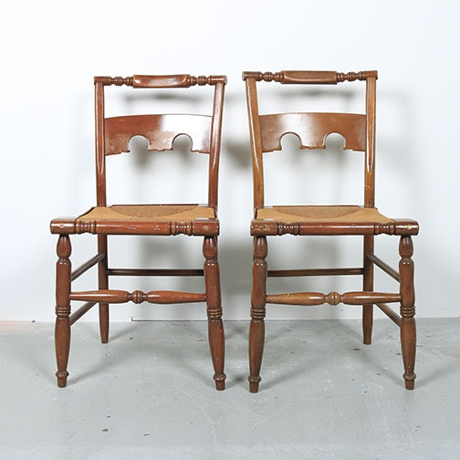 Pair of Hitchcock Style Chairs