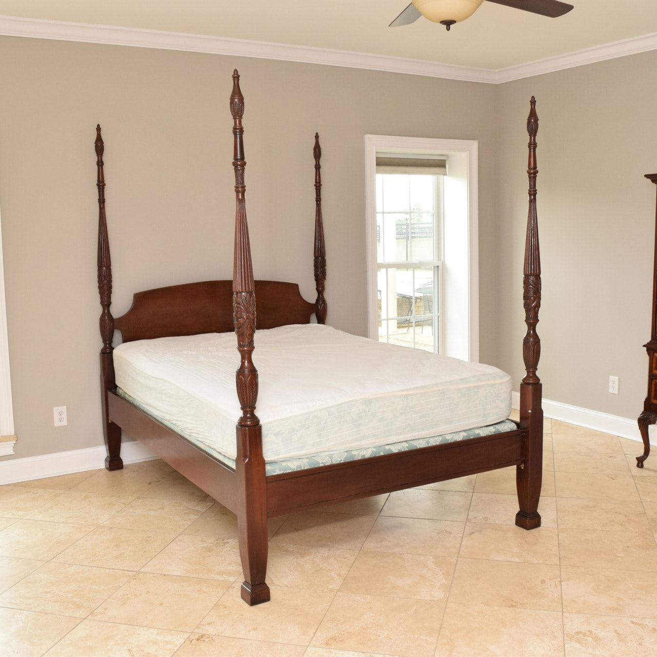 Mahogany Four Poster Queen-Size Bed