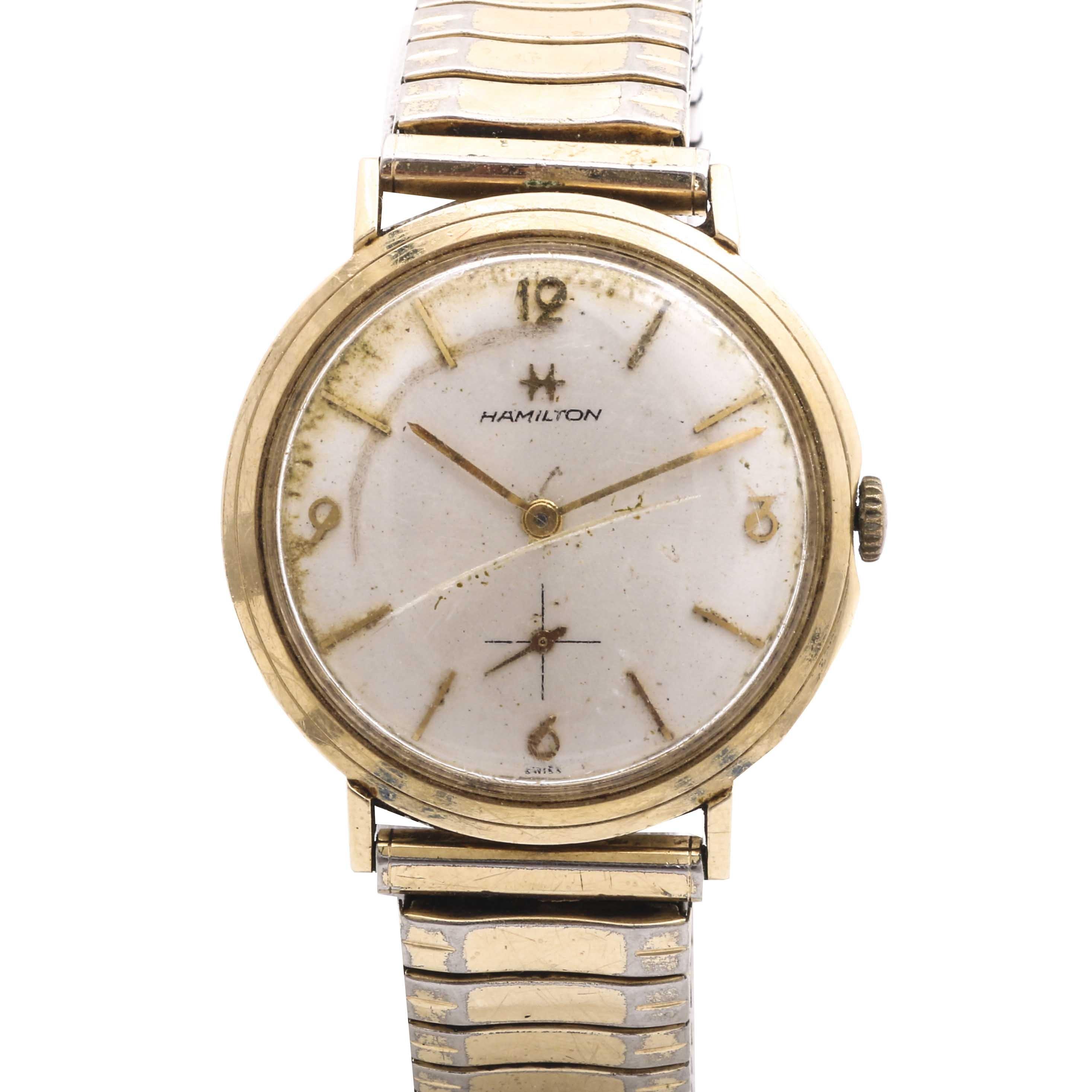 Hamilton 14K Yellow Gold Expansion Wristwatch