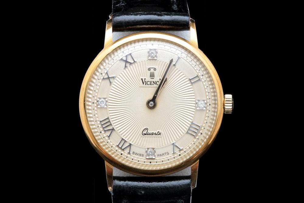 "14K Gold ""Vicence"" Wristwatch"