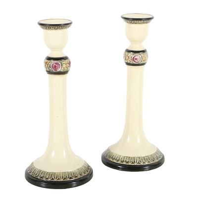 Weller Pottery Art Nouveau Candlesticks