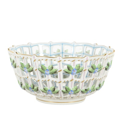 Herend  Porcelain Lattice Bowl