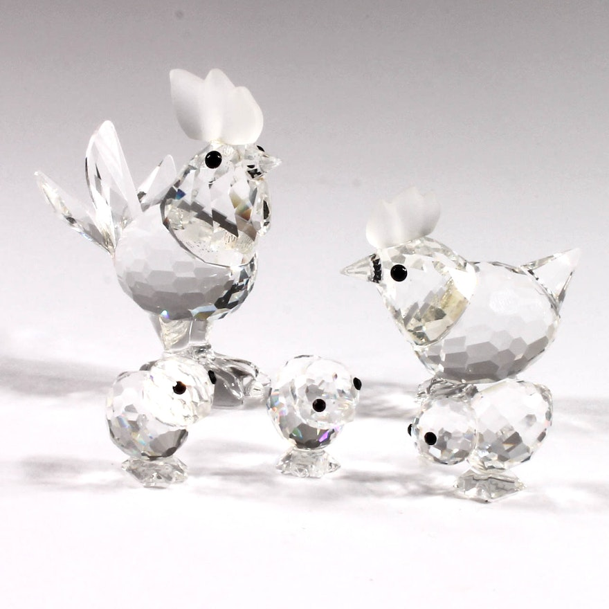 d684828d6 Swarovski Crystal Rooster and Chicken Figurines | EBTH