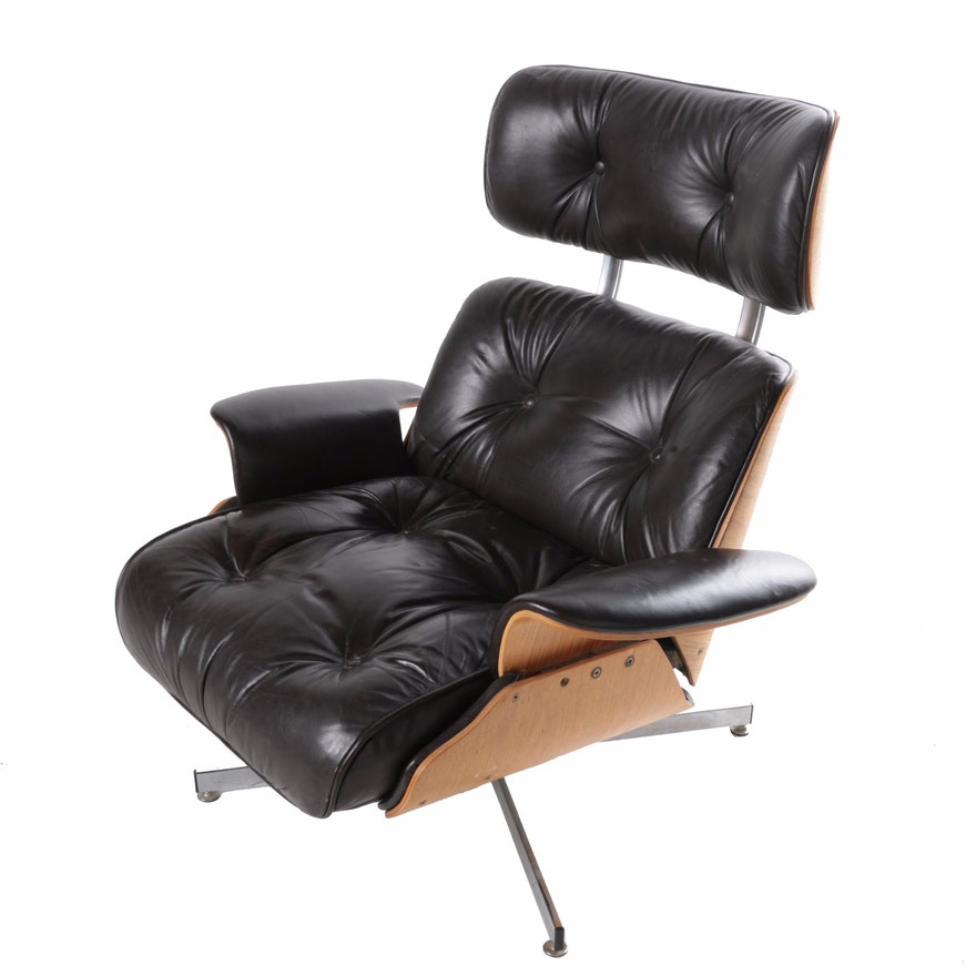 Super Mid Century Modern Eames Style Reclining Lounge Chair By C F A Plycraft Ibusinesslaw Wood Chair Design Ideas Ibusinesslaworg