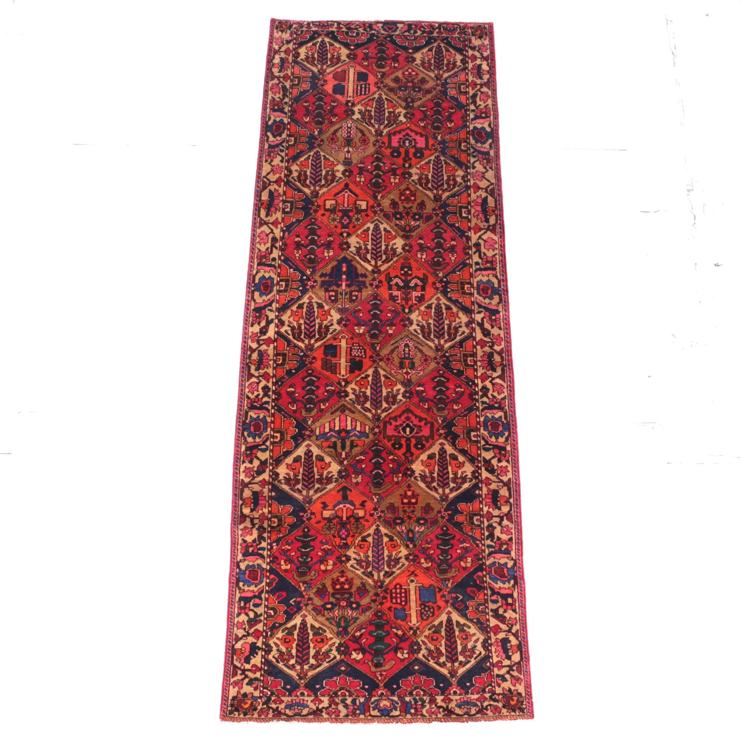 Hand-Knotted Bakhtiari Carpet Runner