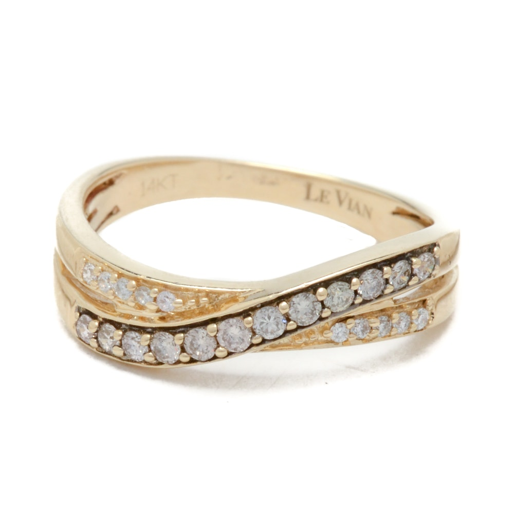 Le Vian 14K Yellow Gold Double-Band Diamond Ring