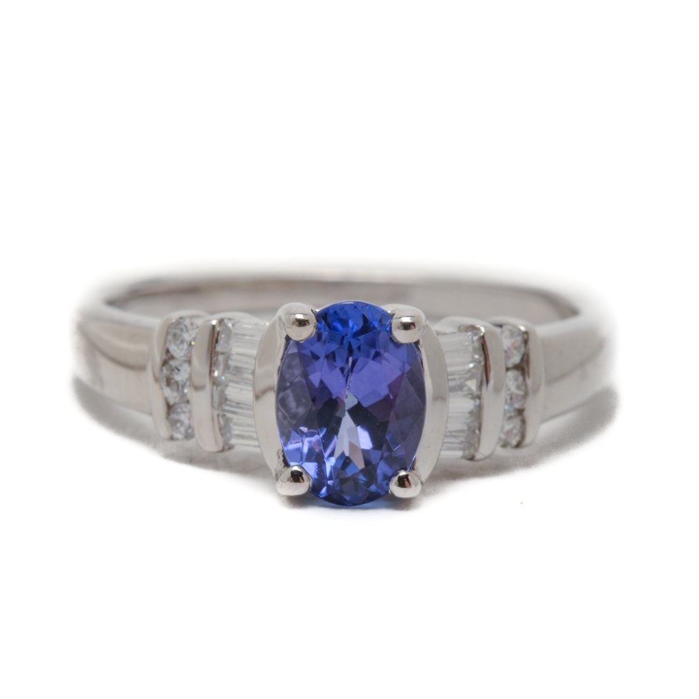 Le Vian 14K White Gold Natural Tanzanite Diamond Ring