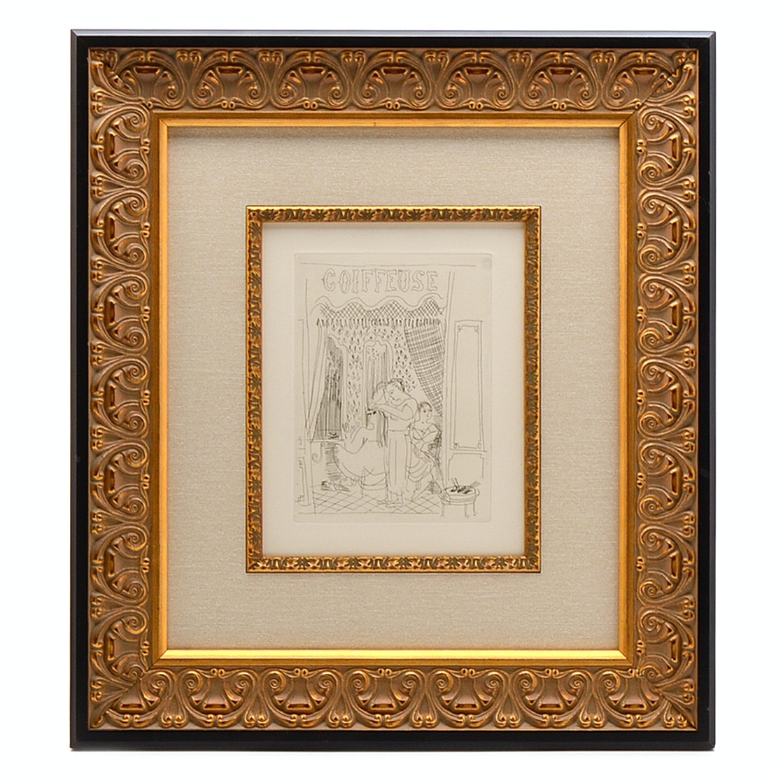 """Raoul Dufy 1930 Etching """"La Coiffeuse"""""""