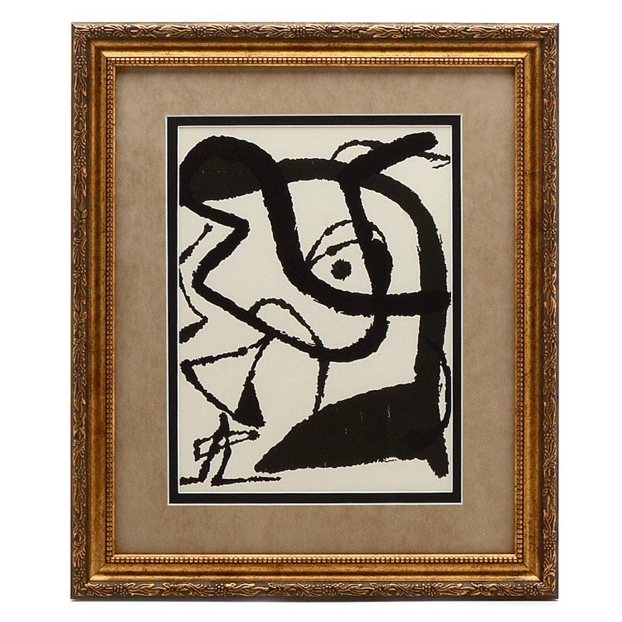 """Joan Miró 1979 Woodblock Print """"Miro Graveur IX"""""""