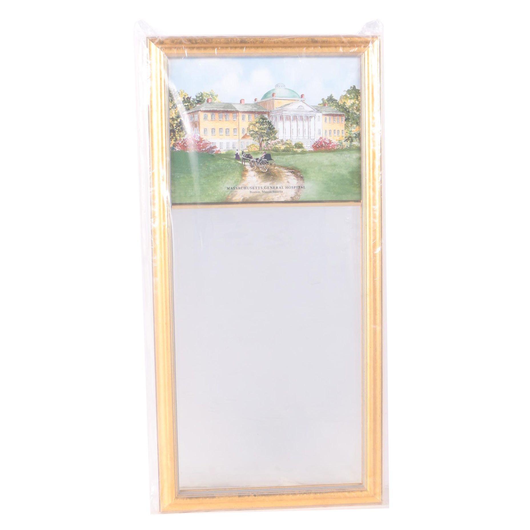 "Decorative Wall Mirror Eglomise ""Massachusetts General Hospital"""