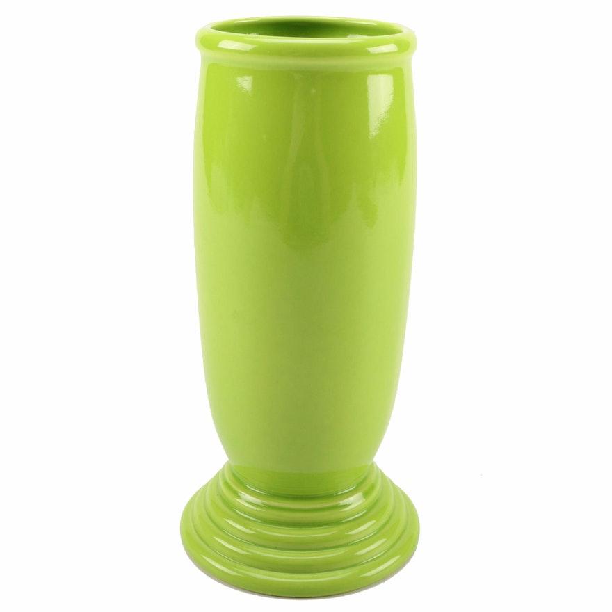 Fiesta Millennium Iii Chartreuse Ceramic Vase Ebth