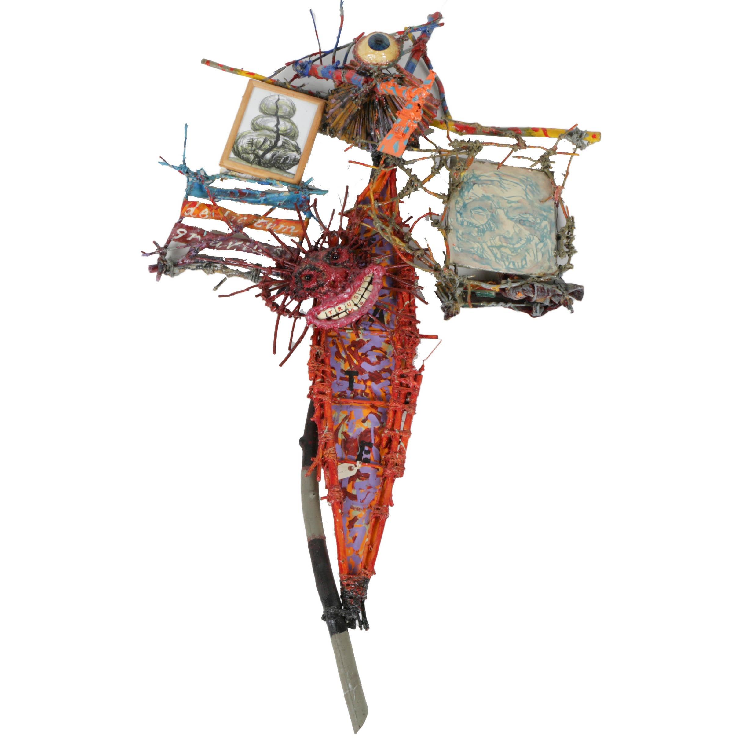 """Frank Kowing Mixed Media Sculpture """"Delictum Gravisius 3"""""""