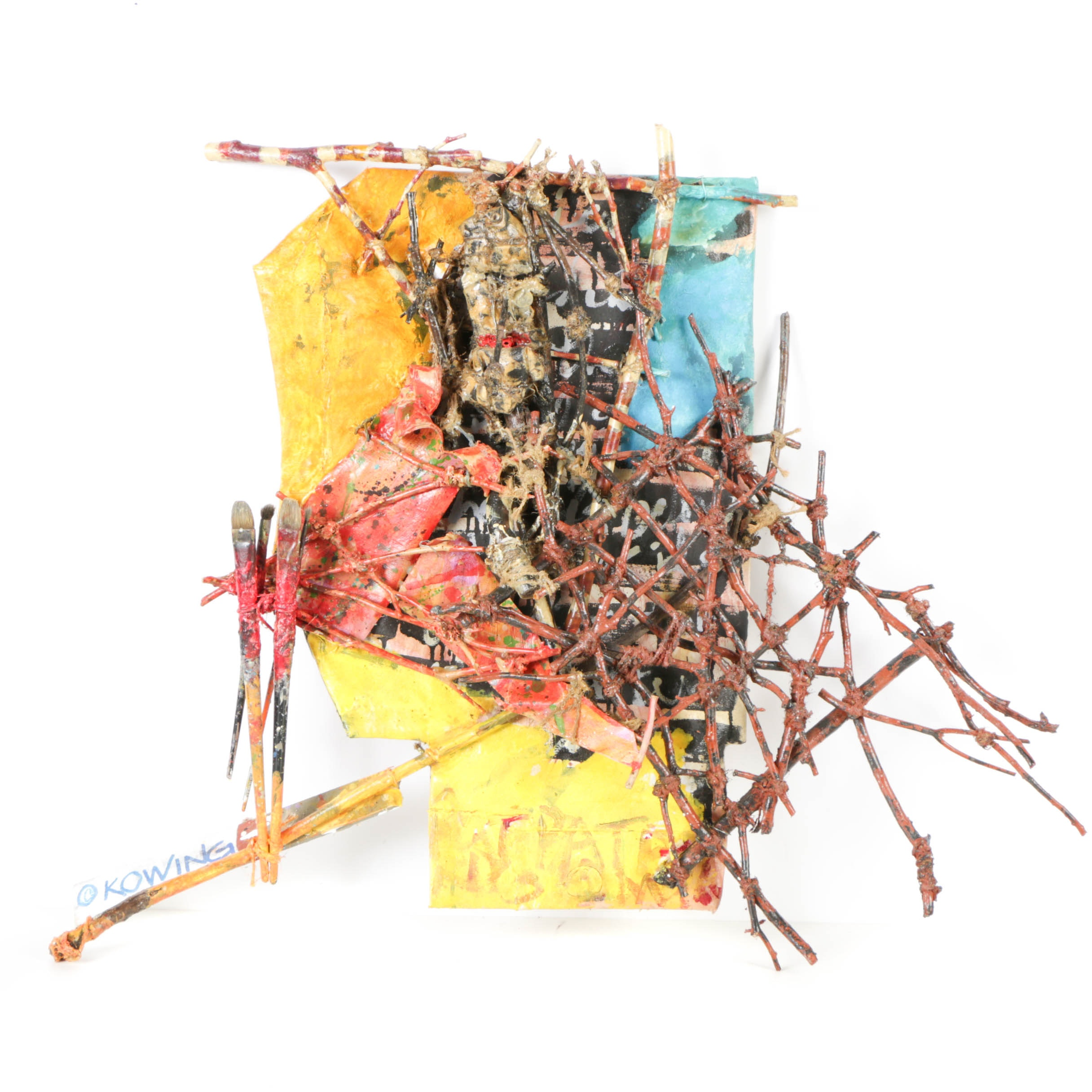 Frank Kowing Mixed Media Sculpture from Shield Series