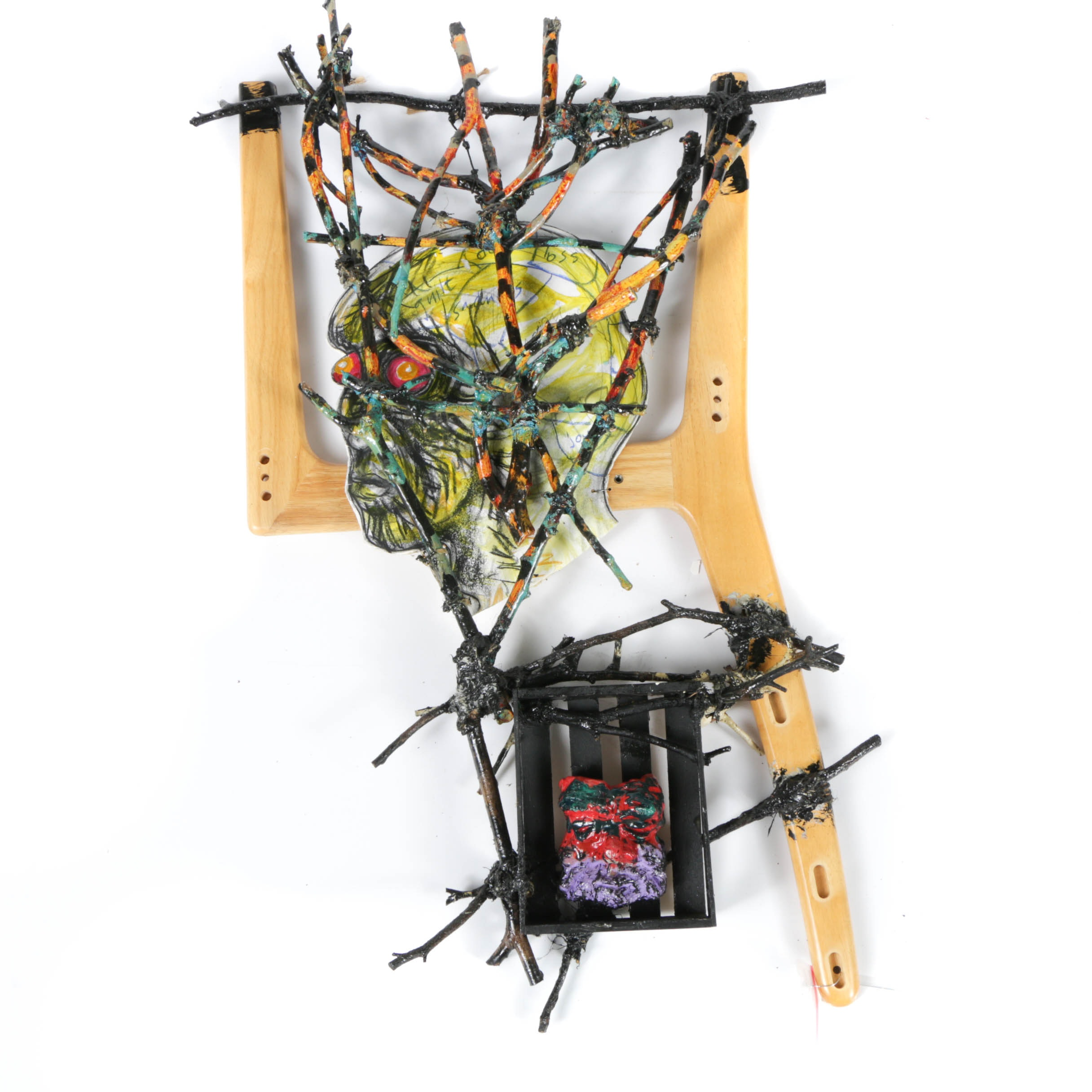 "Frank Kowing Mixed Media Sculpture ""Memento for Meridian"""