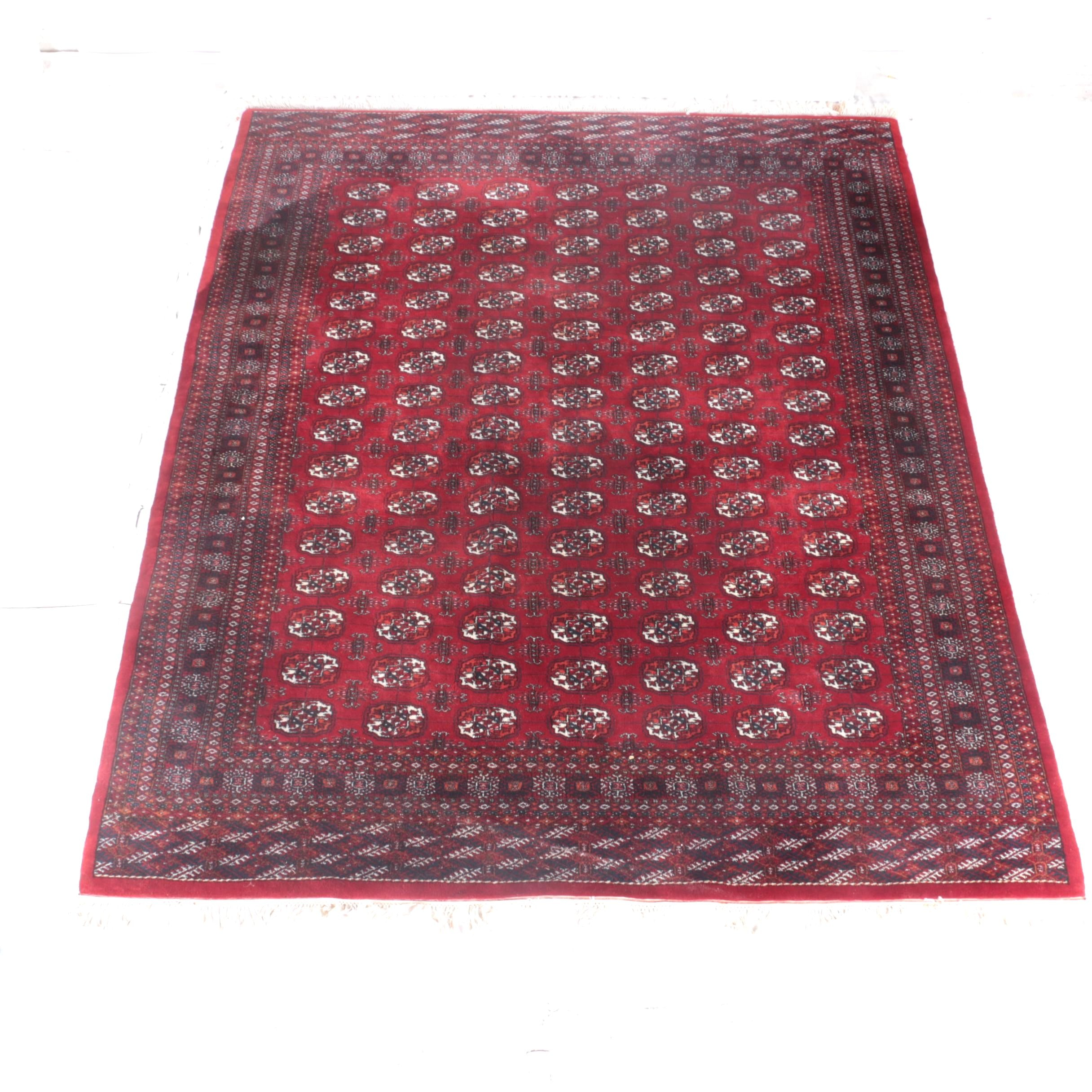 Power Loomed Indian Bokhara Area Rug