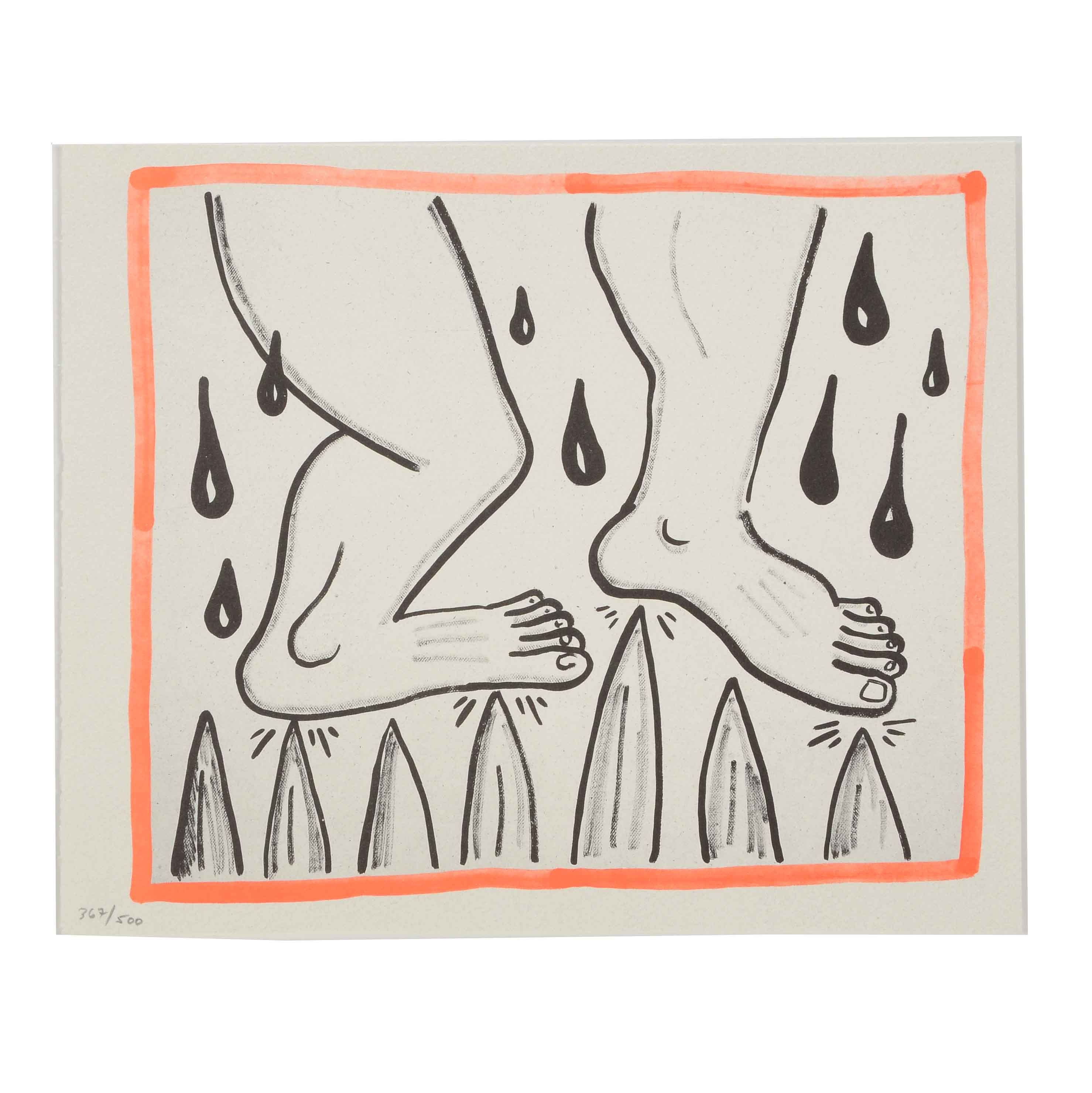 "Keith Haring Limited Edition Print from ""Against All Odds: 20 Drawings"""