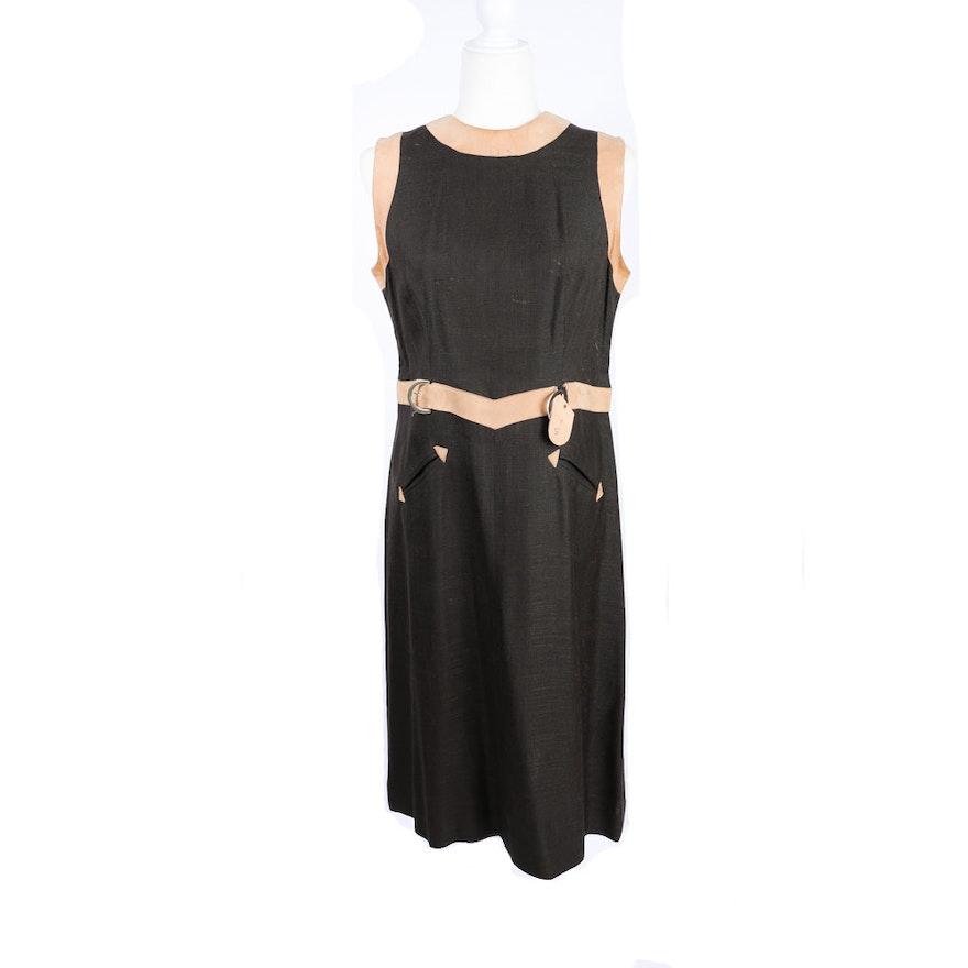 cbaf3cb1b0b5 Vintage Linen and Suede Dress   EBTH