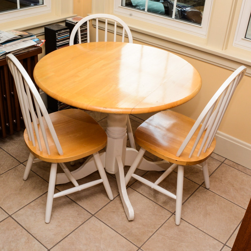 Drop-Leaf Kitchenette Table and Chairs