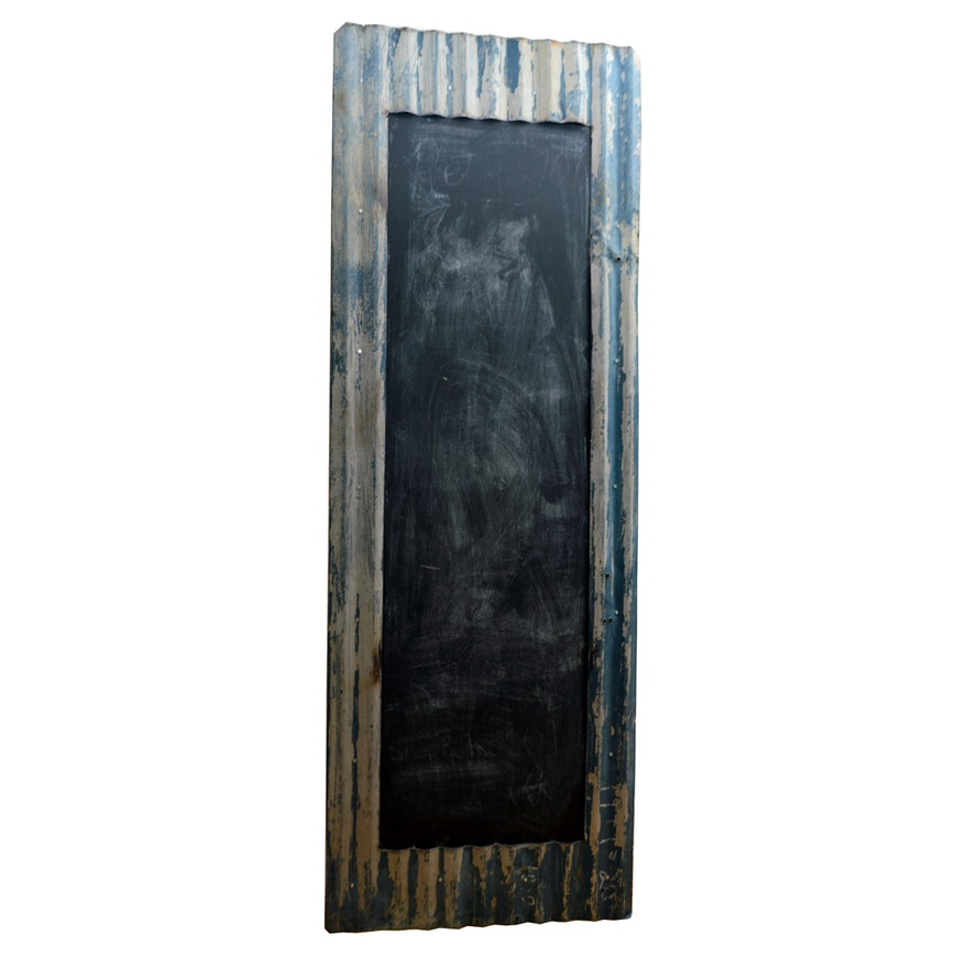 Industrial Frame Chalkboard Panel : EBTH
