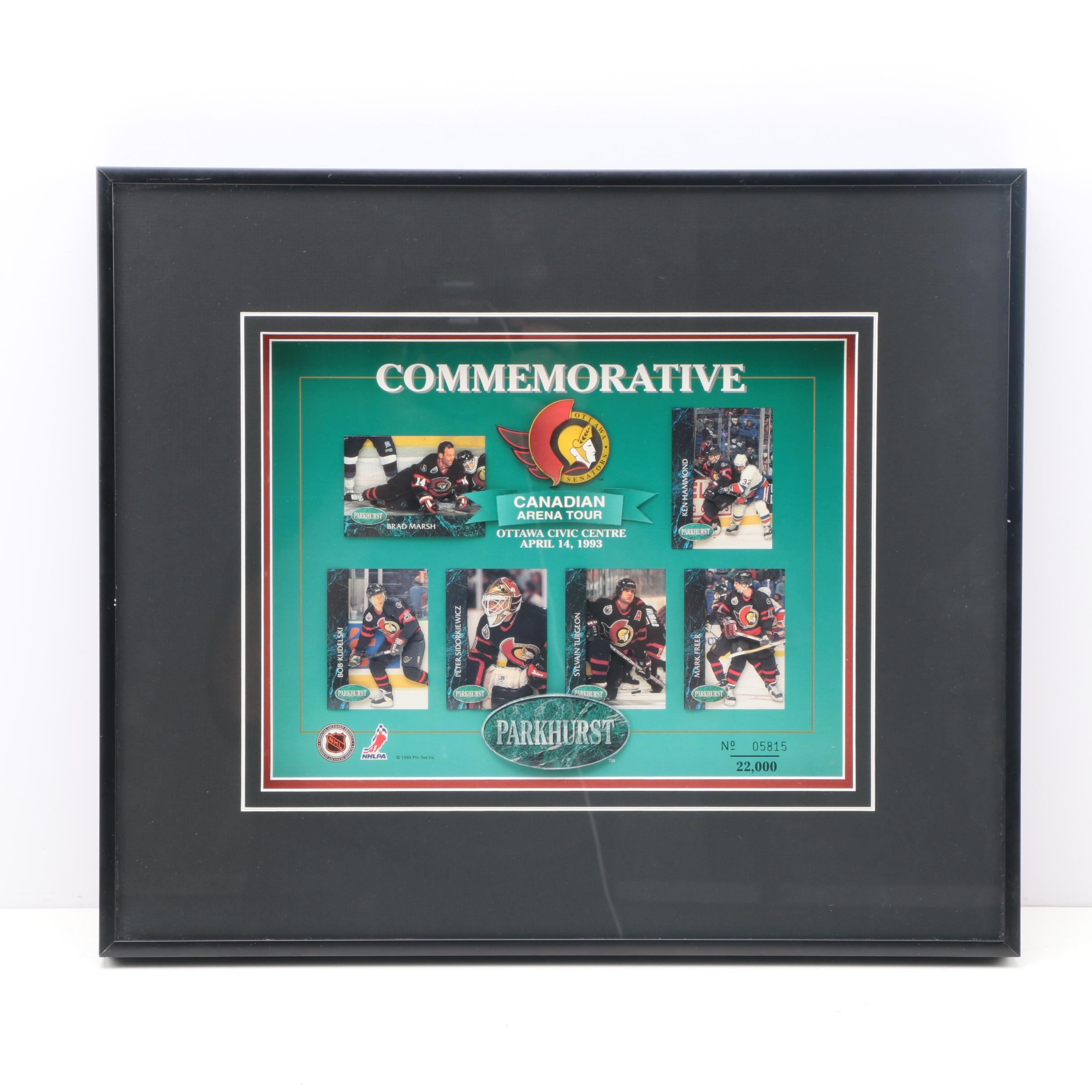 Limited Edition Offset Lithograph Parkhurst Commemorative Ottawa Senators