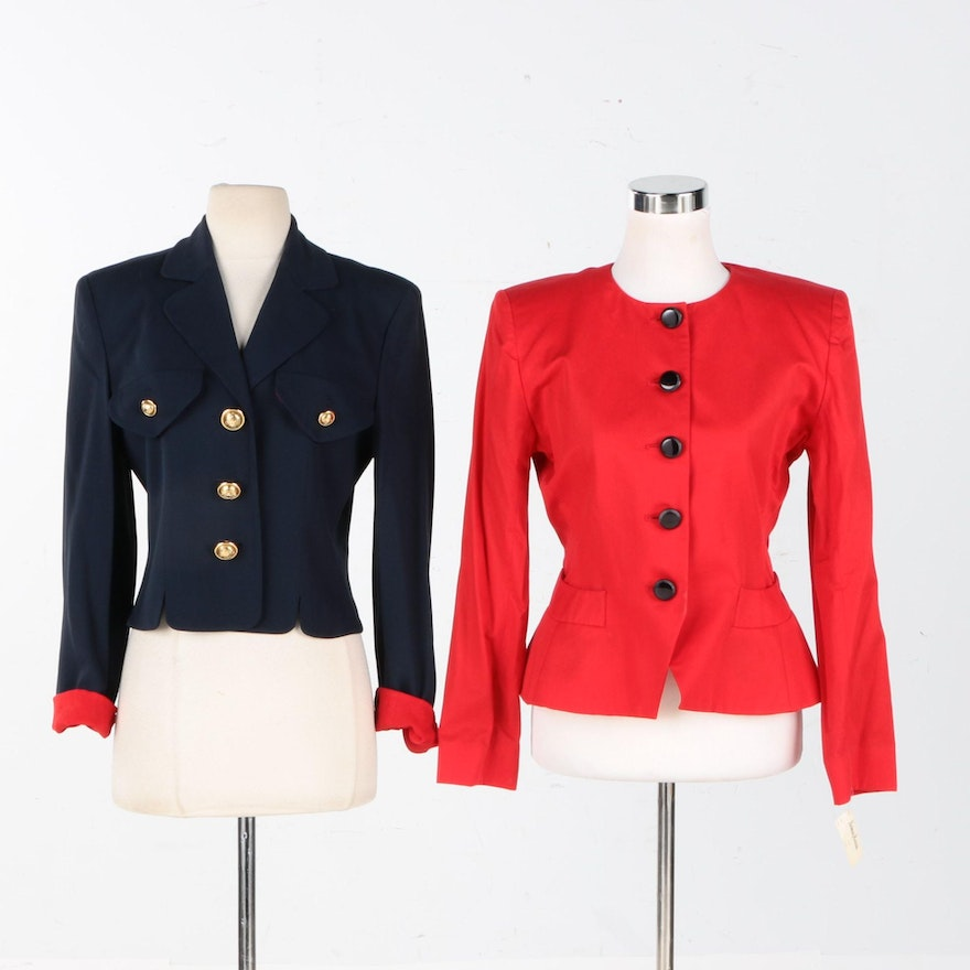 911c016c28 Yves Saint Laurent Encore and Cheap and Chic by Moschino Blazers   EBTH