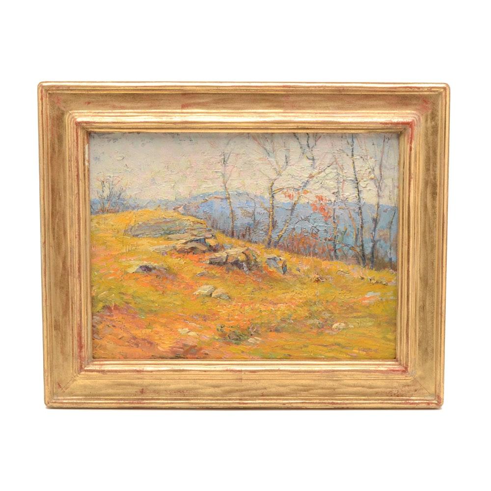 Brasser Signed Original Alla Prima Oil Landscape on Board