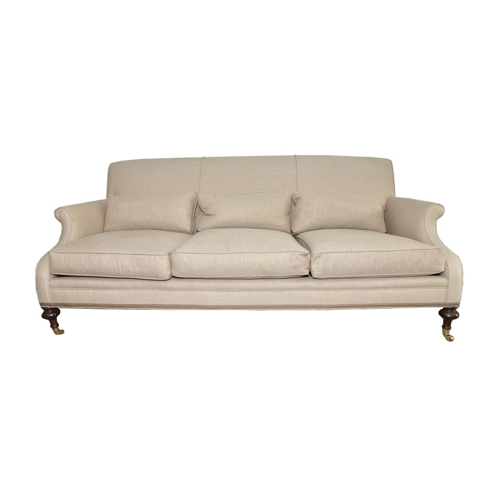 Upholstered English Roll Arm Sofa