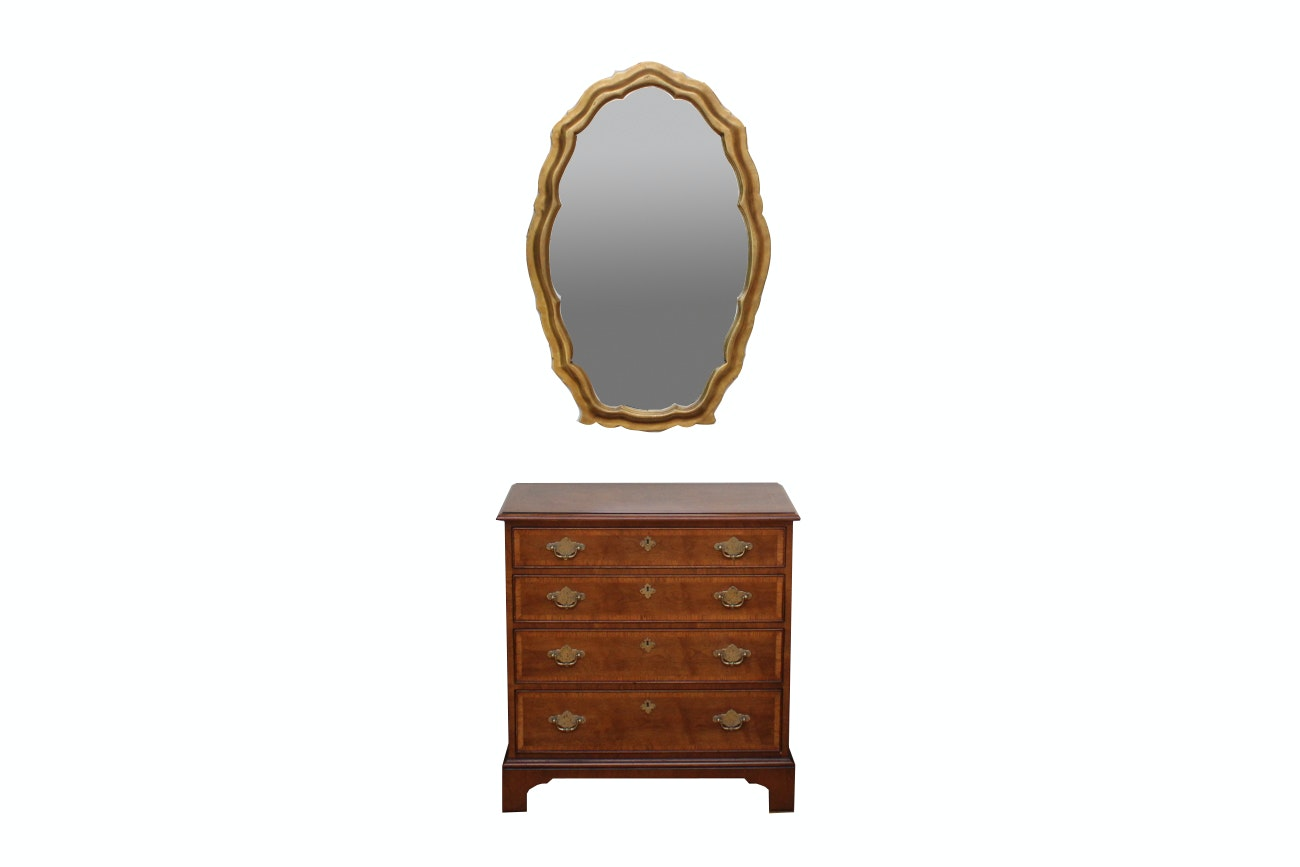 Henredon Fine Furniture Chest Of Drawers With Wall Mirror ...