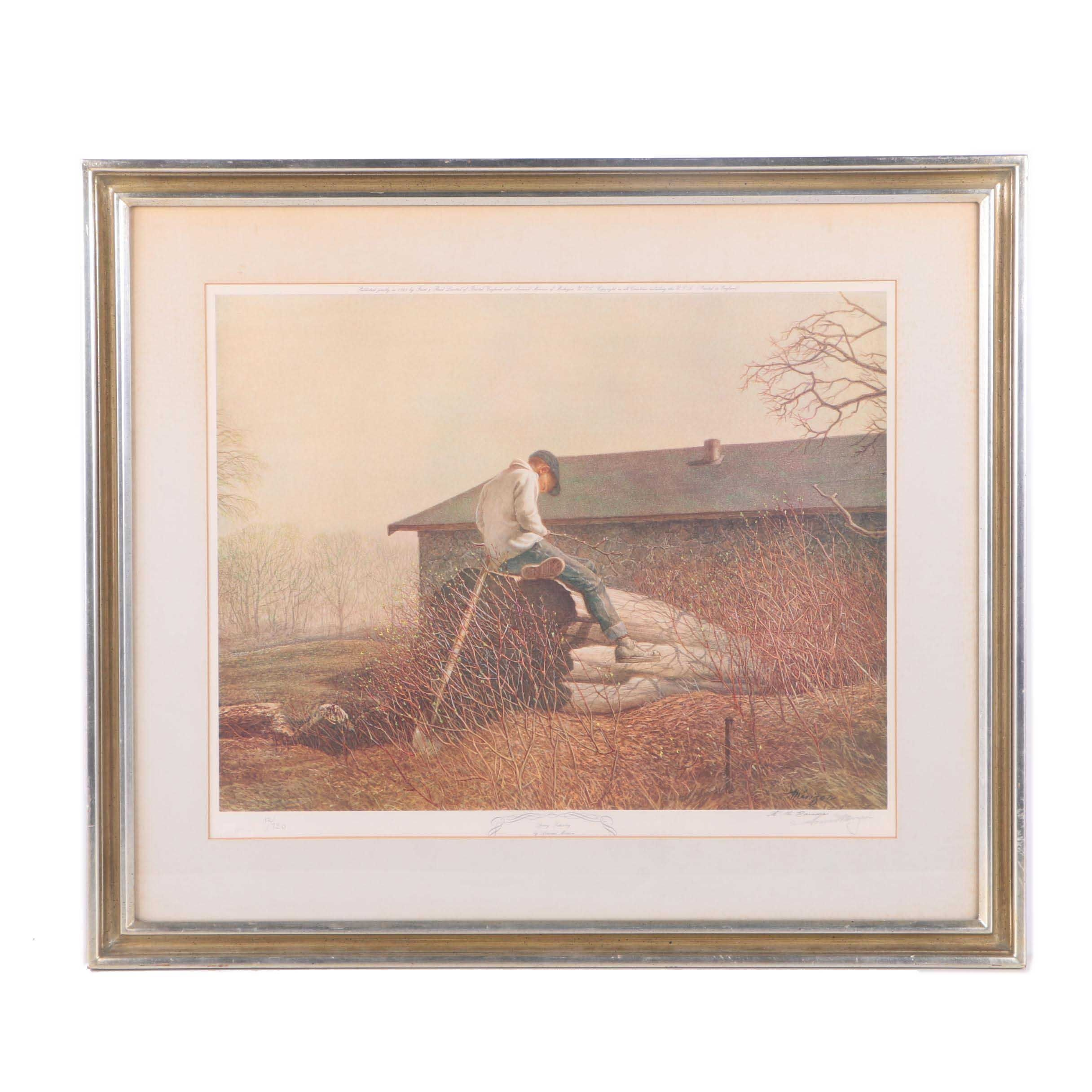 """Armand Merizon Limited Edition Offset Lithograph """"Spring Saturday"""""""