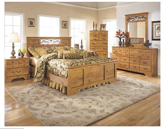"signature designashley furniture ""bittersweet"" queen panel bed"