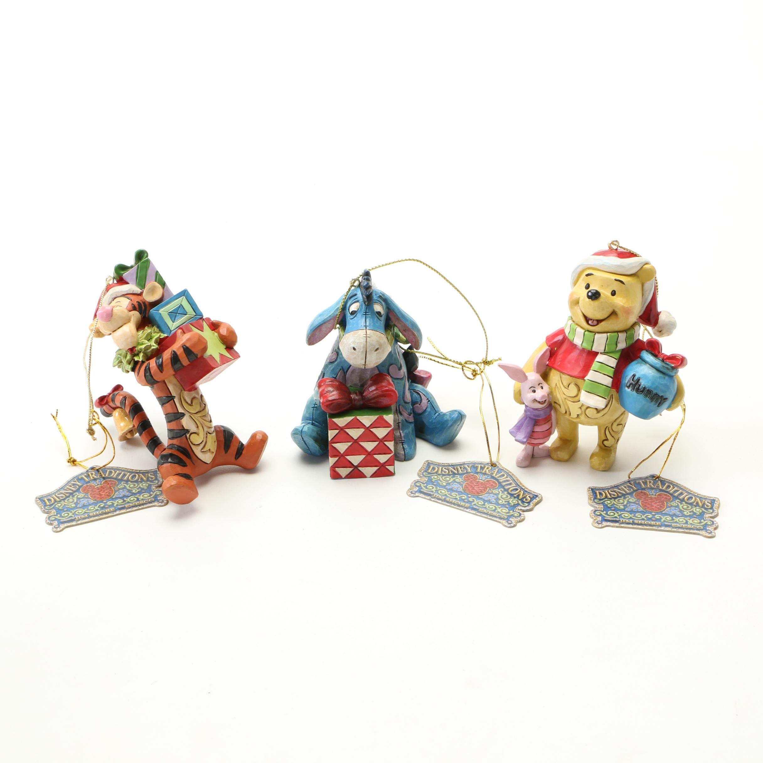 """Disney Showcase Collection """"Pooh, Eeyore,  and Tigger"""" Ornaments"""